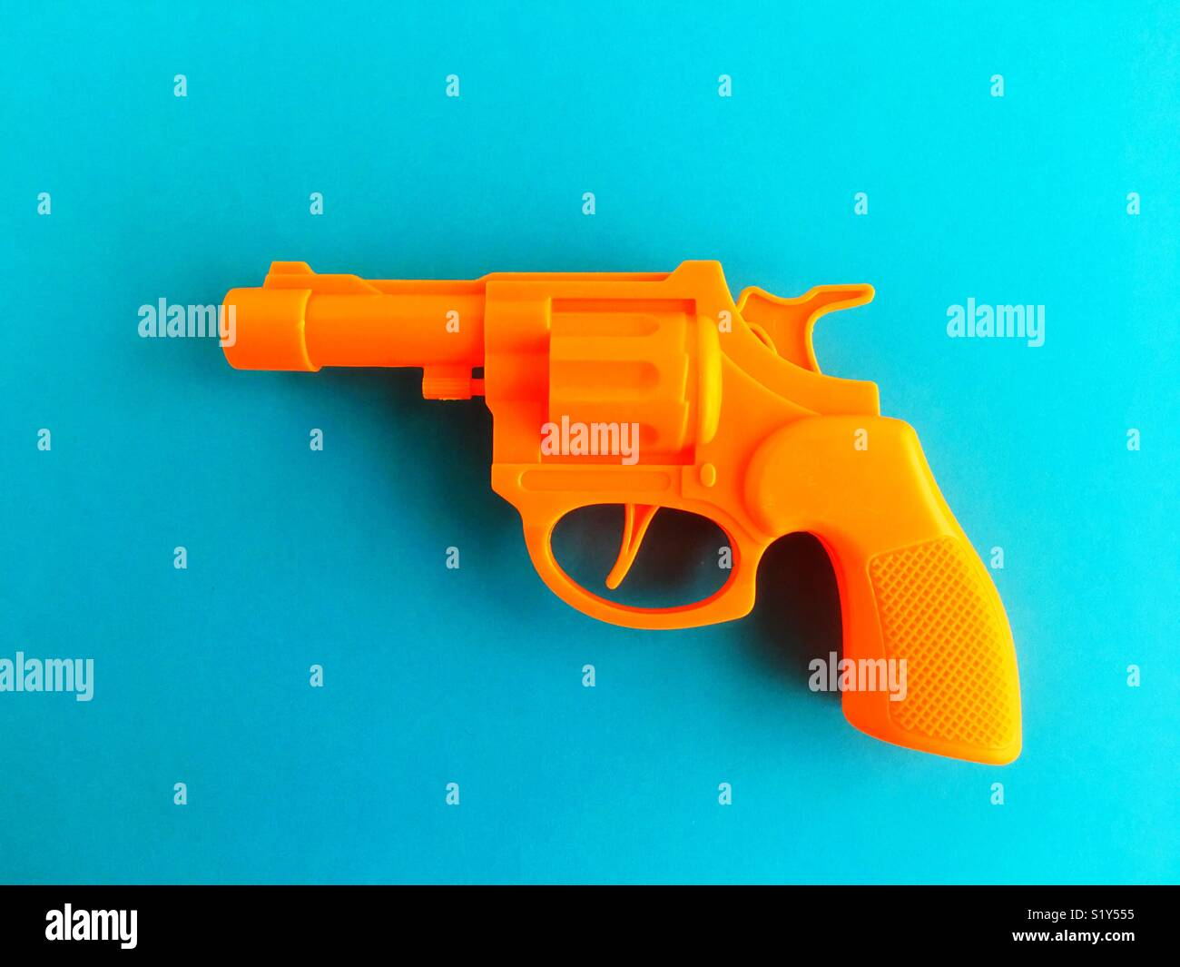 A toy gun. - Stock Image