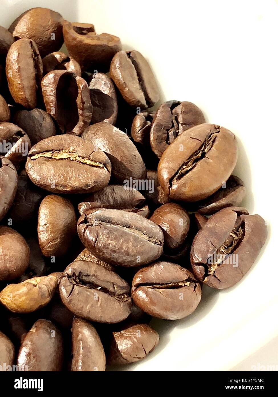 Coffee beans roasted - Stock Image
