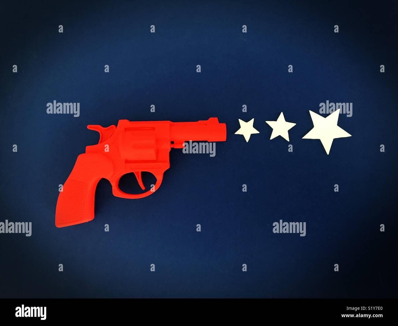 Conceptual: gun violence in America. Stock Photo