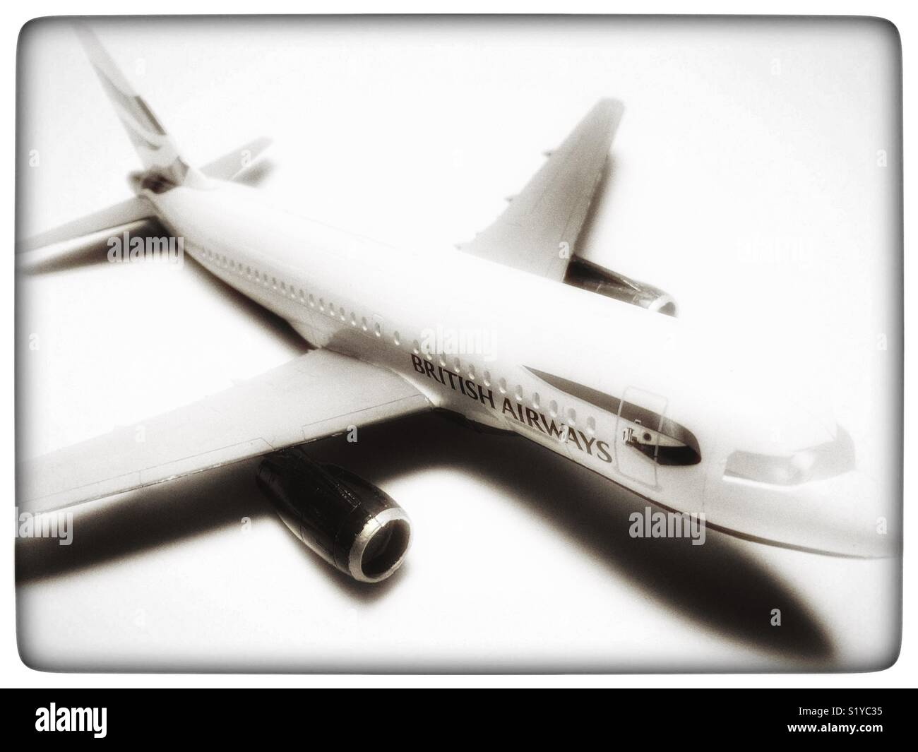 British Airways Airbus A319 model aircraft - Stock Image