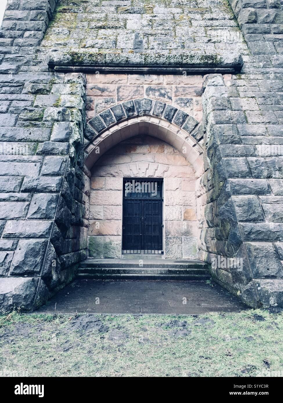 Mysterious doorway - Stock Image