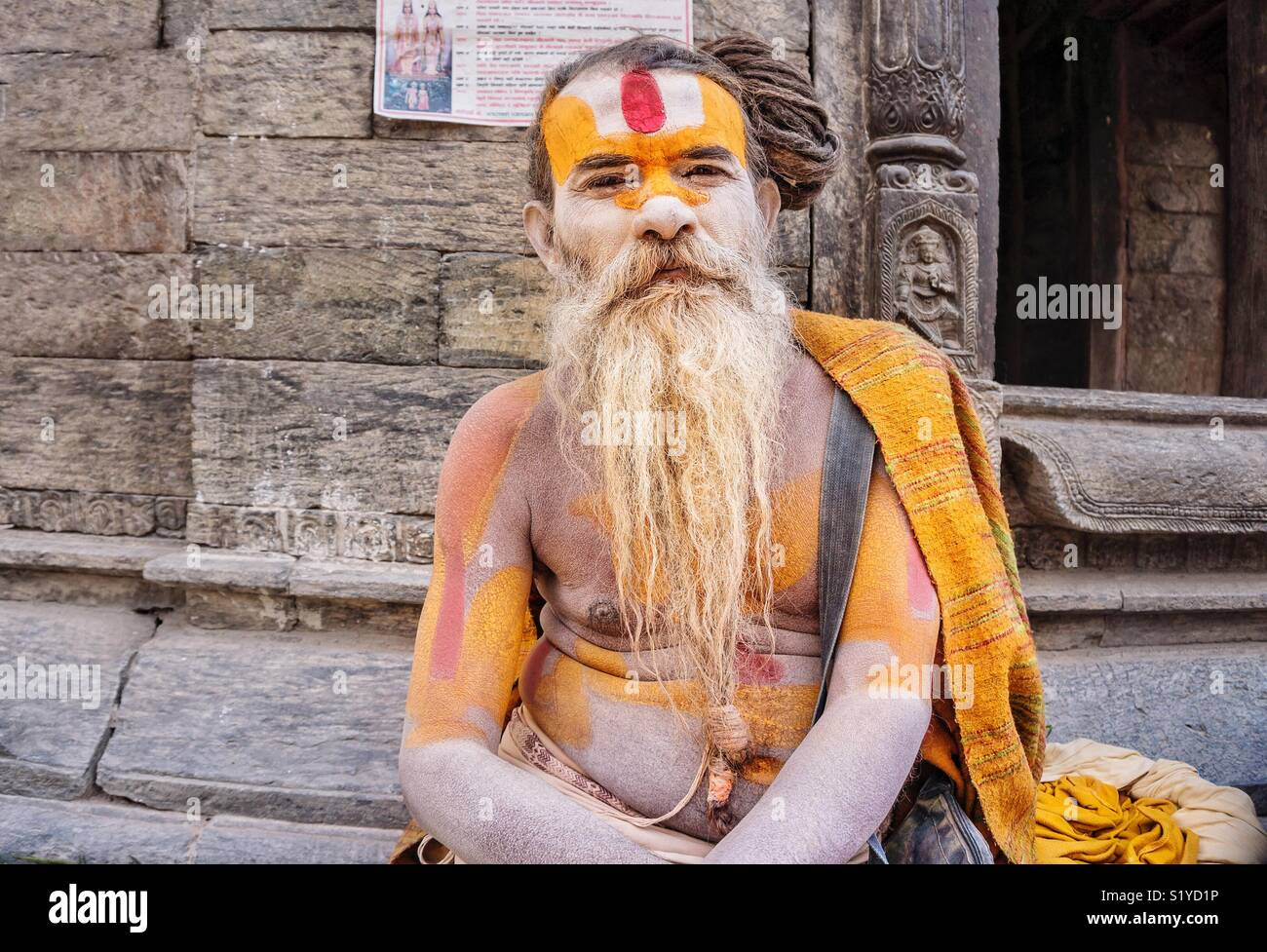 A sadhu who has decided to leave all material attachments and dedicate his life to achieving spiritual liberation. - Stock Image