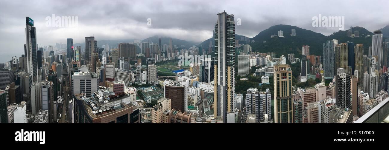 Skyline of Hongkong - Stock Image