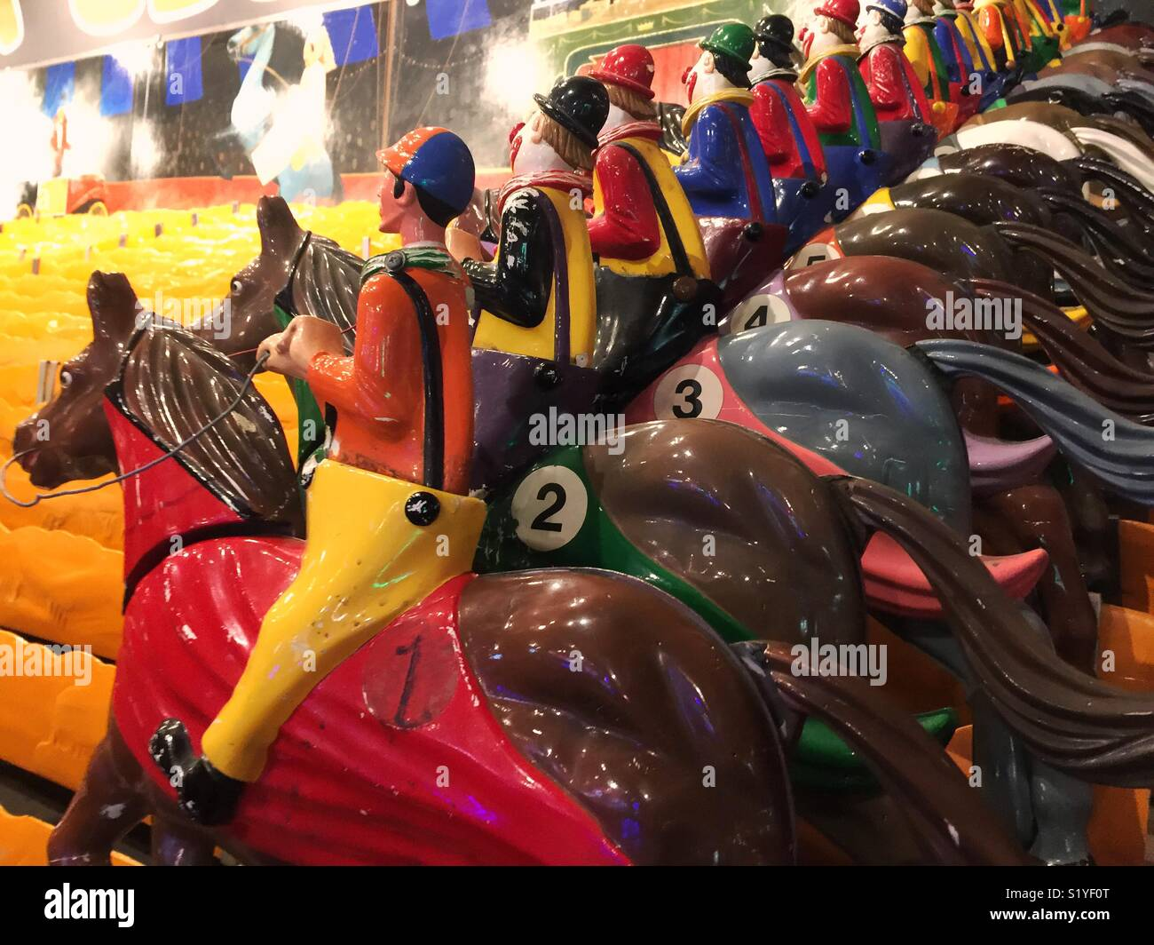 Vintage horse race arcade game in Las Vegas - Stock Image