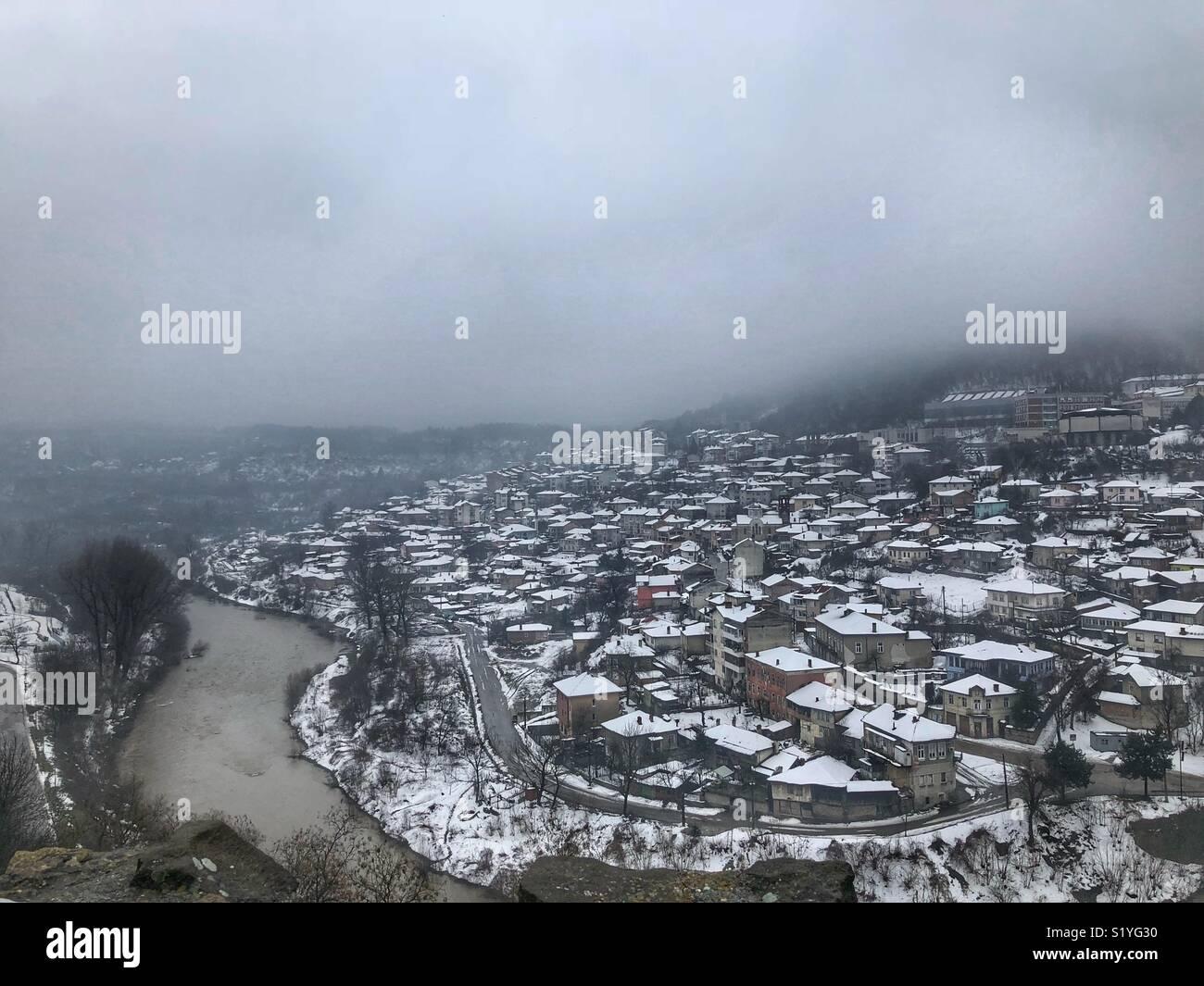 Veliko Tarnovo and Yantra river Bulgaria Stock Photo
