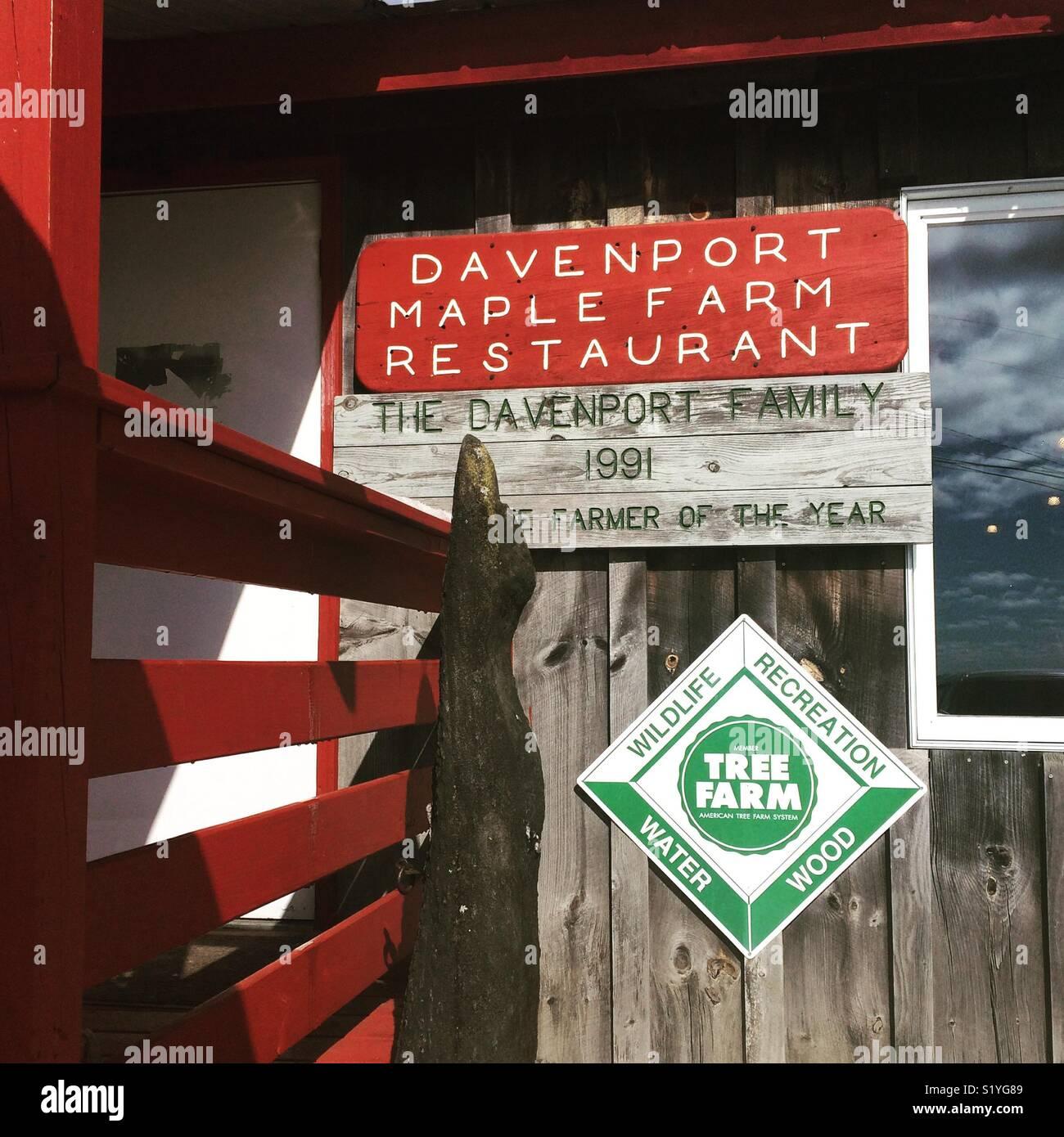 Davenport Maple Farm Restaurant, Shelburne, Massachusetts - Stock Image