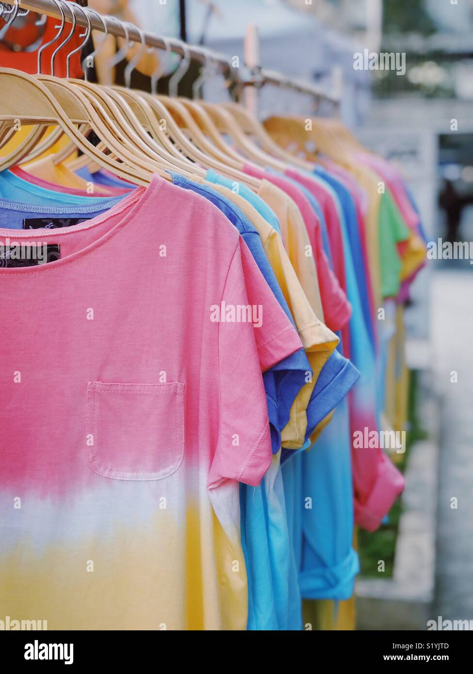 There is always a choices and one colour is just not enough. Why not buy same cloth with different colour if the material is super comfy. - Stock Image
