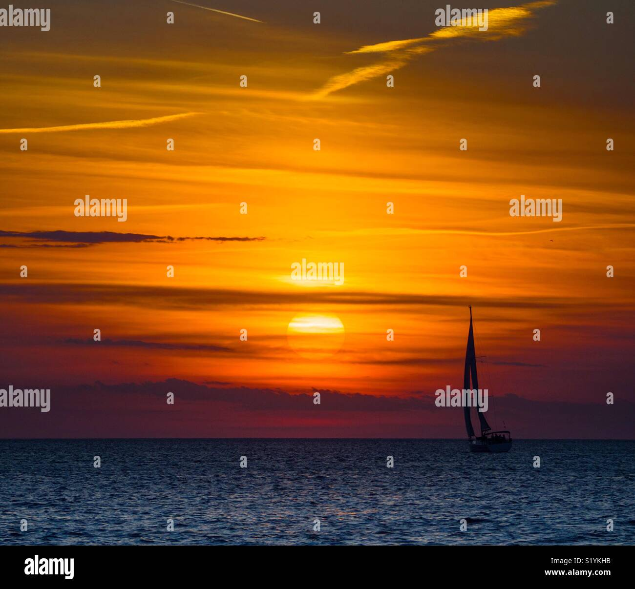 Sunset in Zadar, Croatia - Stock Image