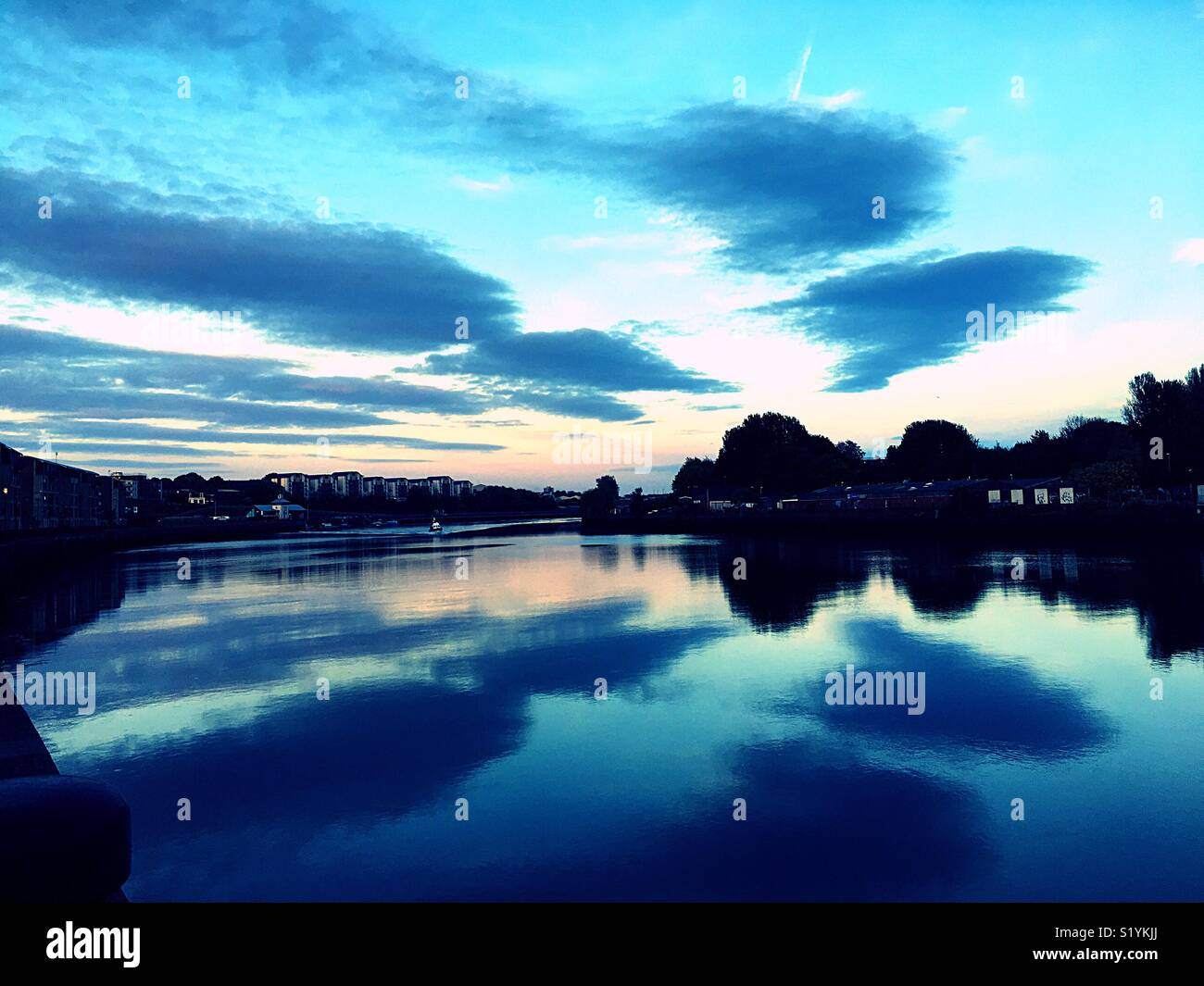 Water reflections - Stock Image
