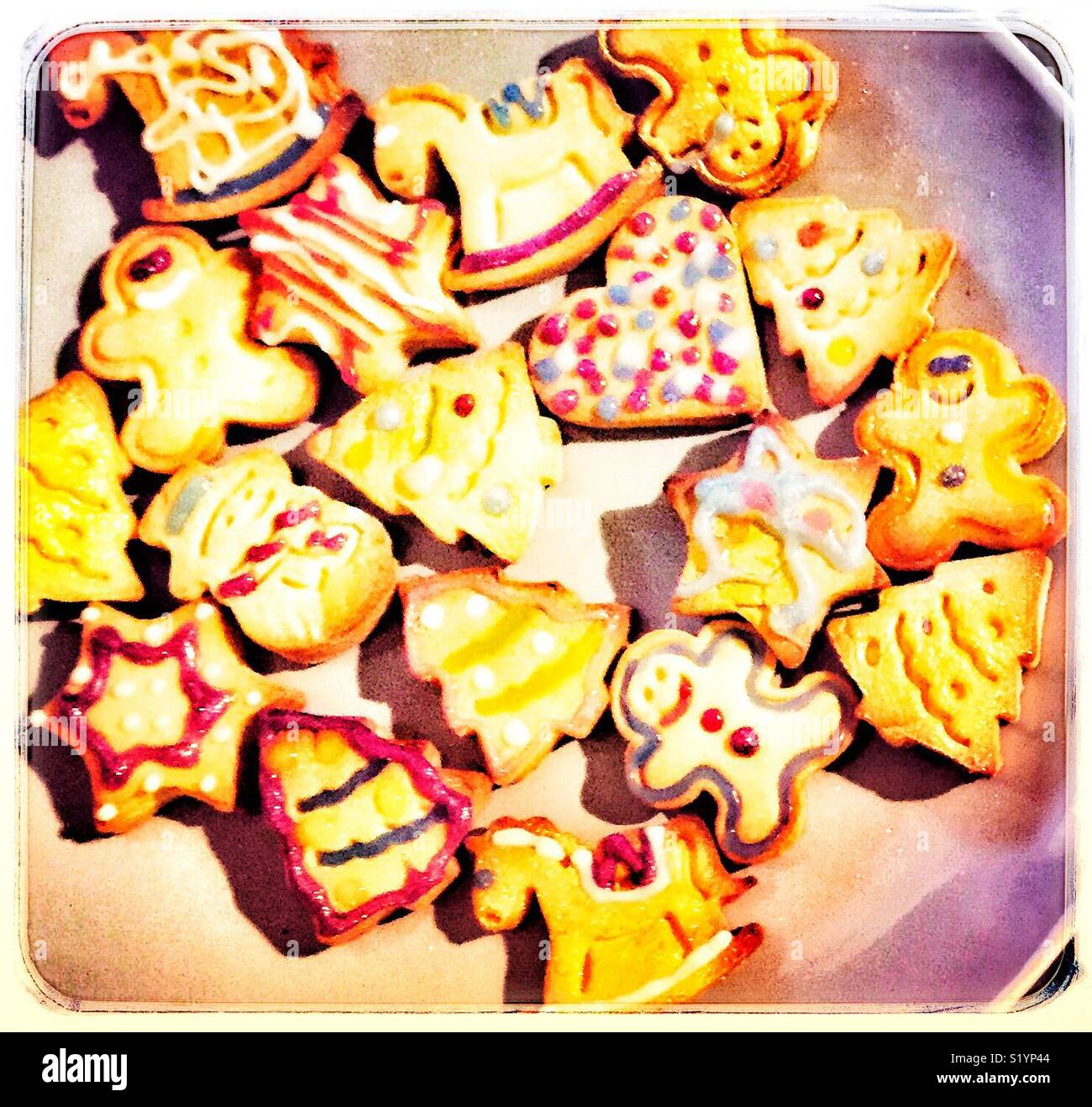 Homemade Xmas Cookies Quick Things To Do With The Kids Stock Photo