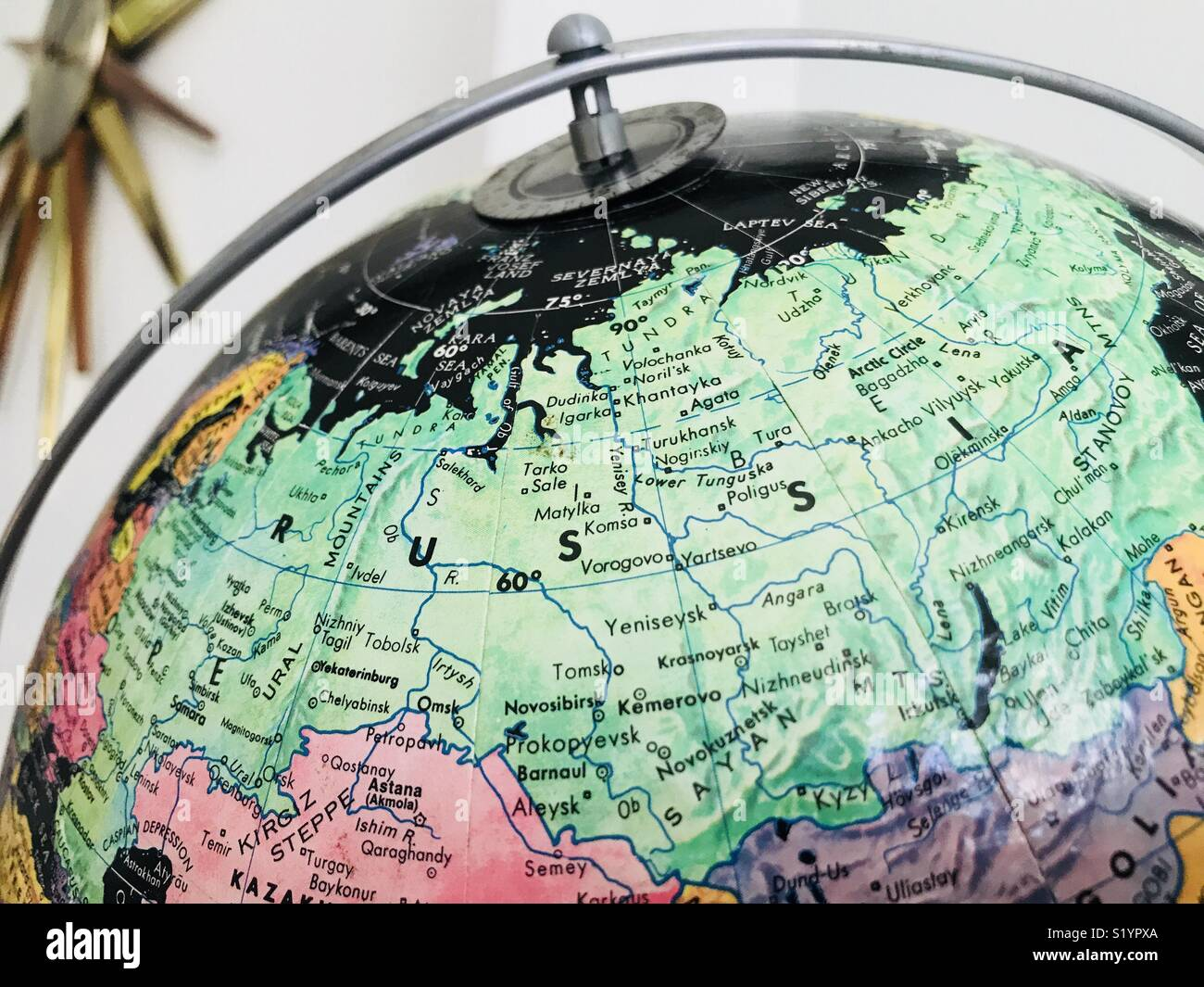 Arctic Circle Russia Map.Russia Map Globe Stock Photos Russia Map Globe Stock Images Alamy