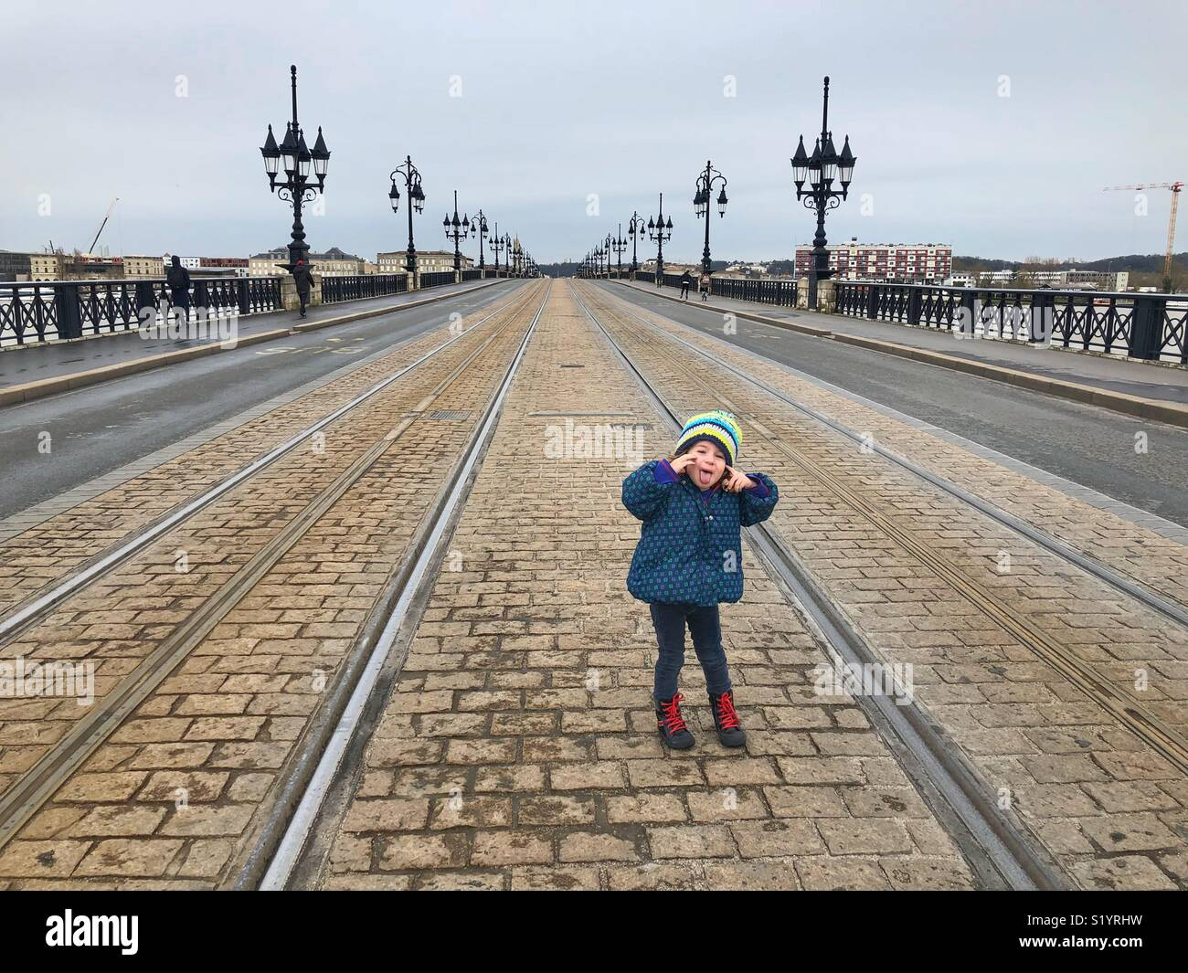 Funny moment Bordeaux France - Stock Image