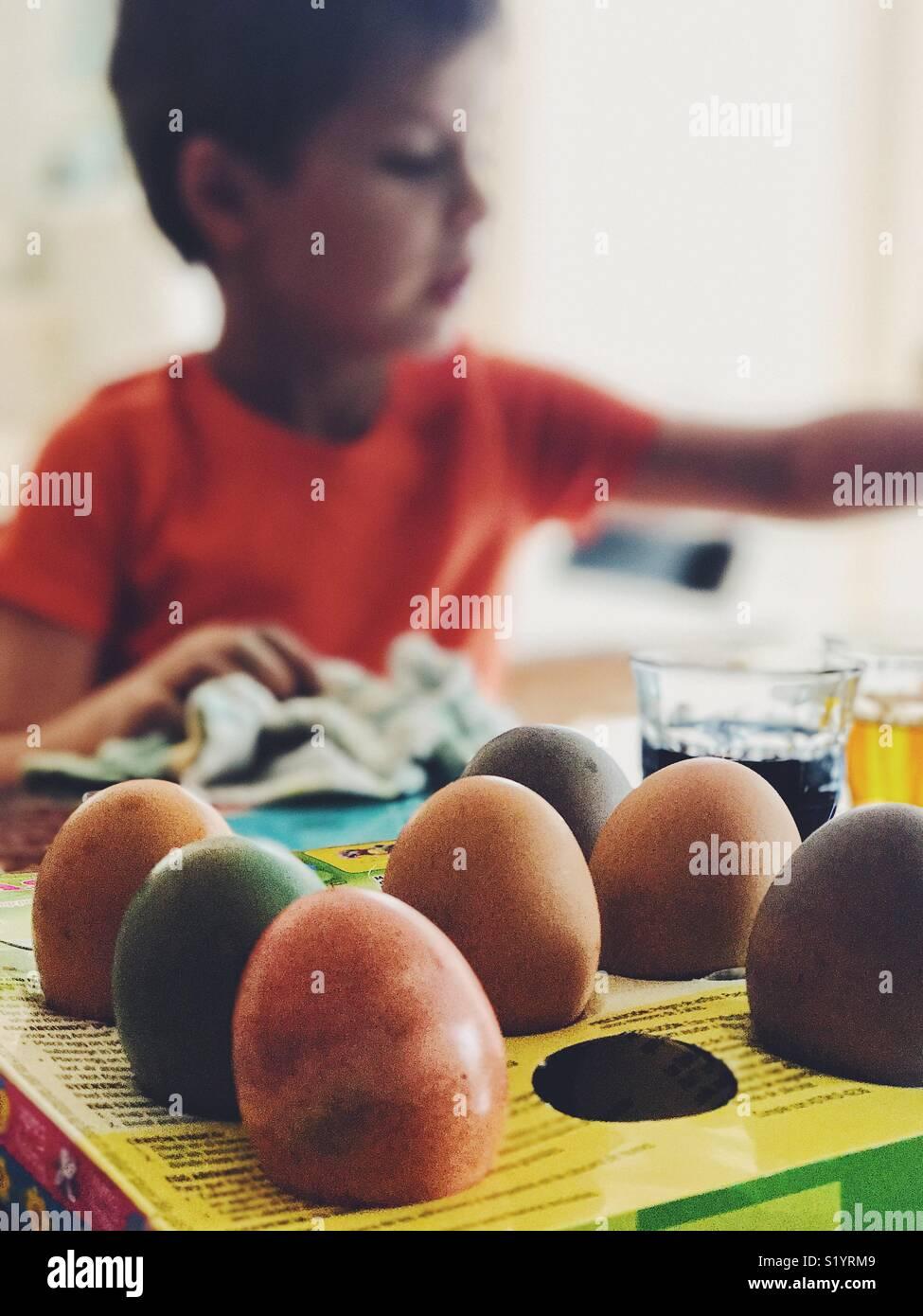 Easter eggs - Stock Image