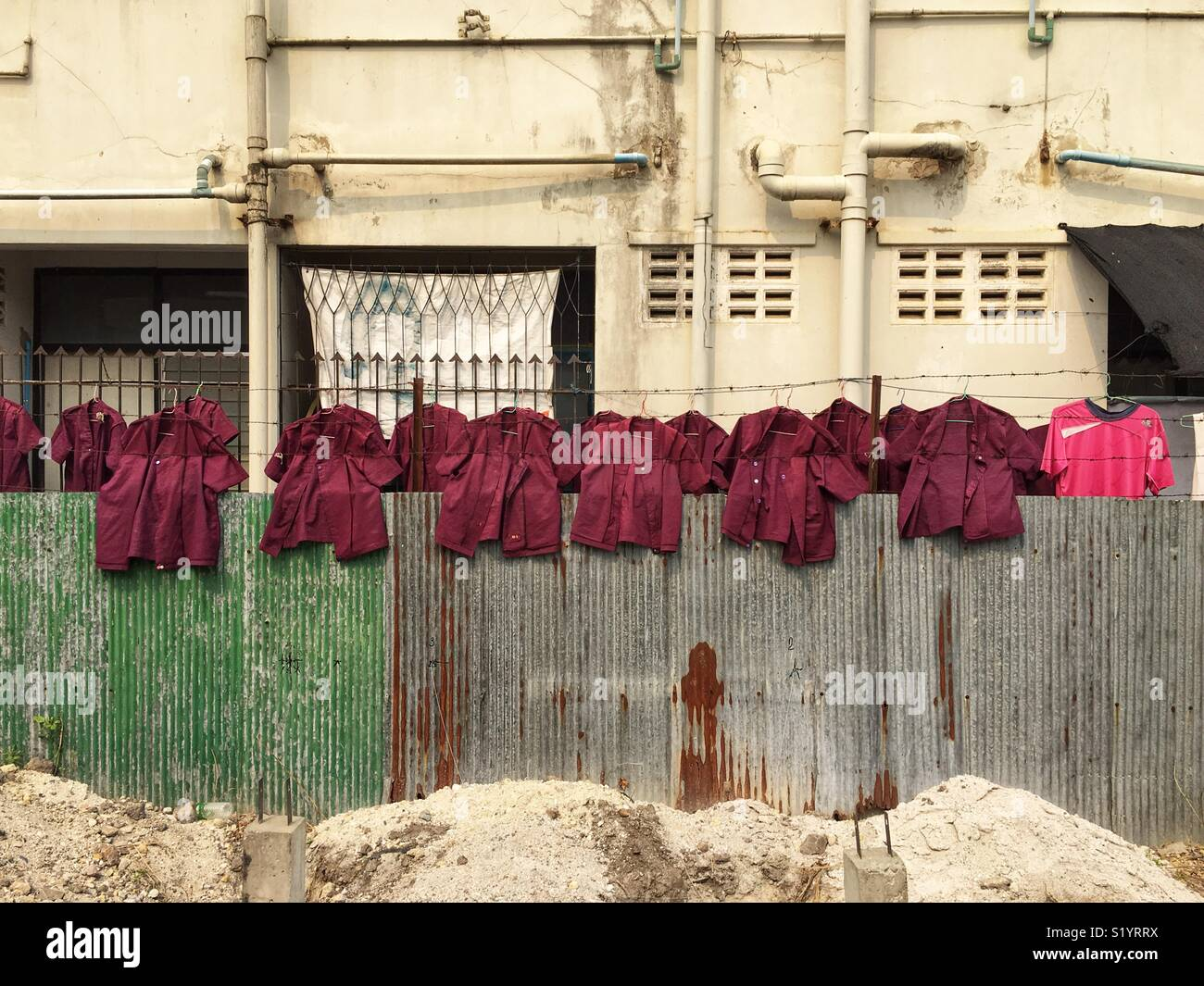 Workers uniforms - Stock Image