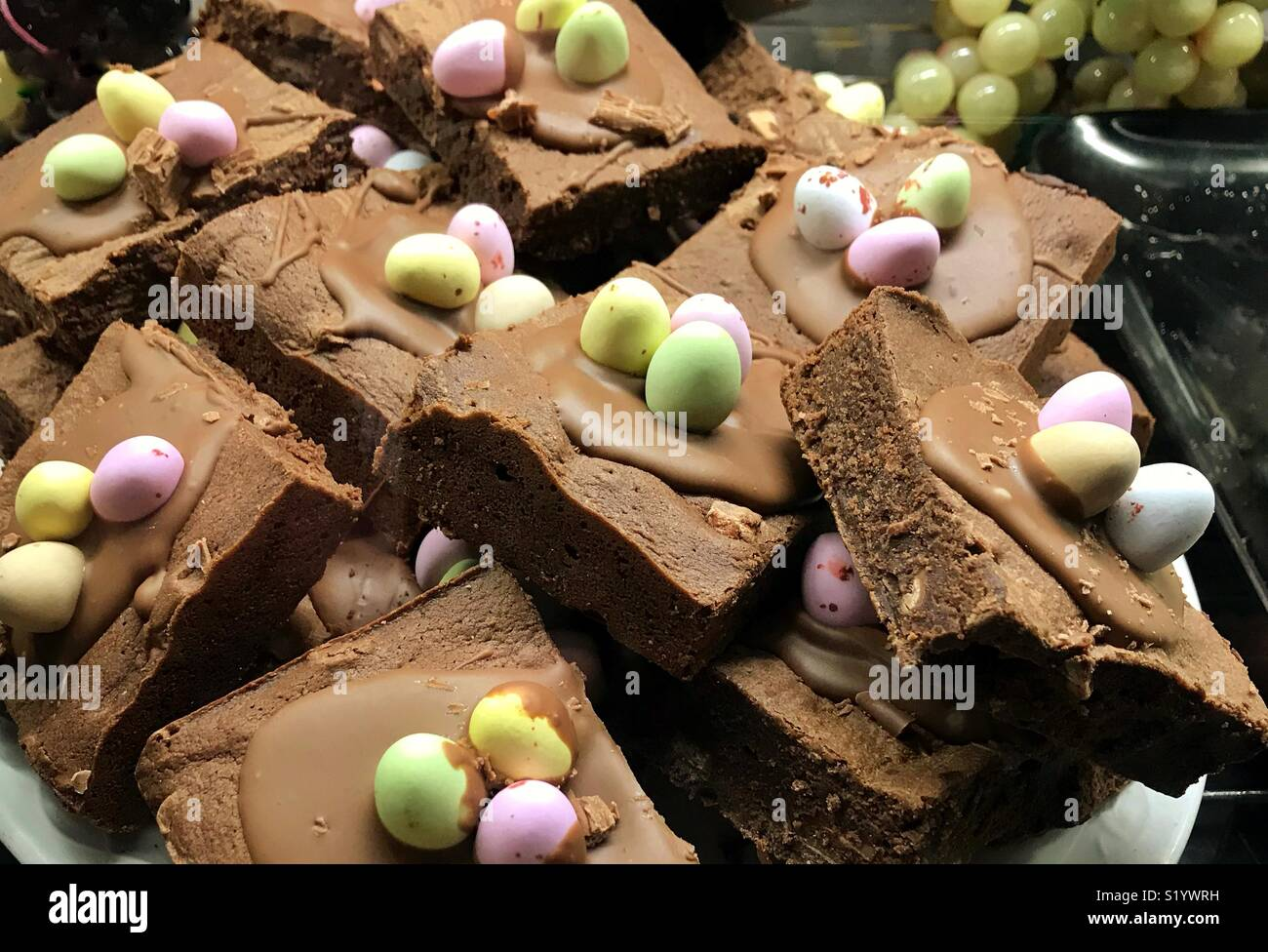 Easter chocolate cakes - Stock Image