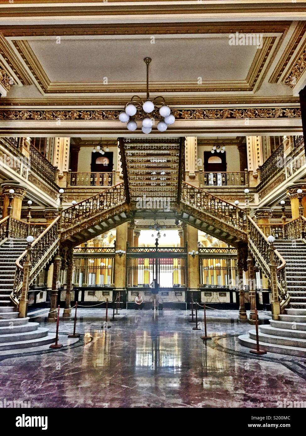 Main Post Office (Postal Palace) in Mexico City - Stock Image