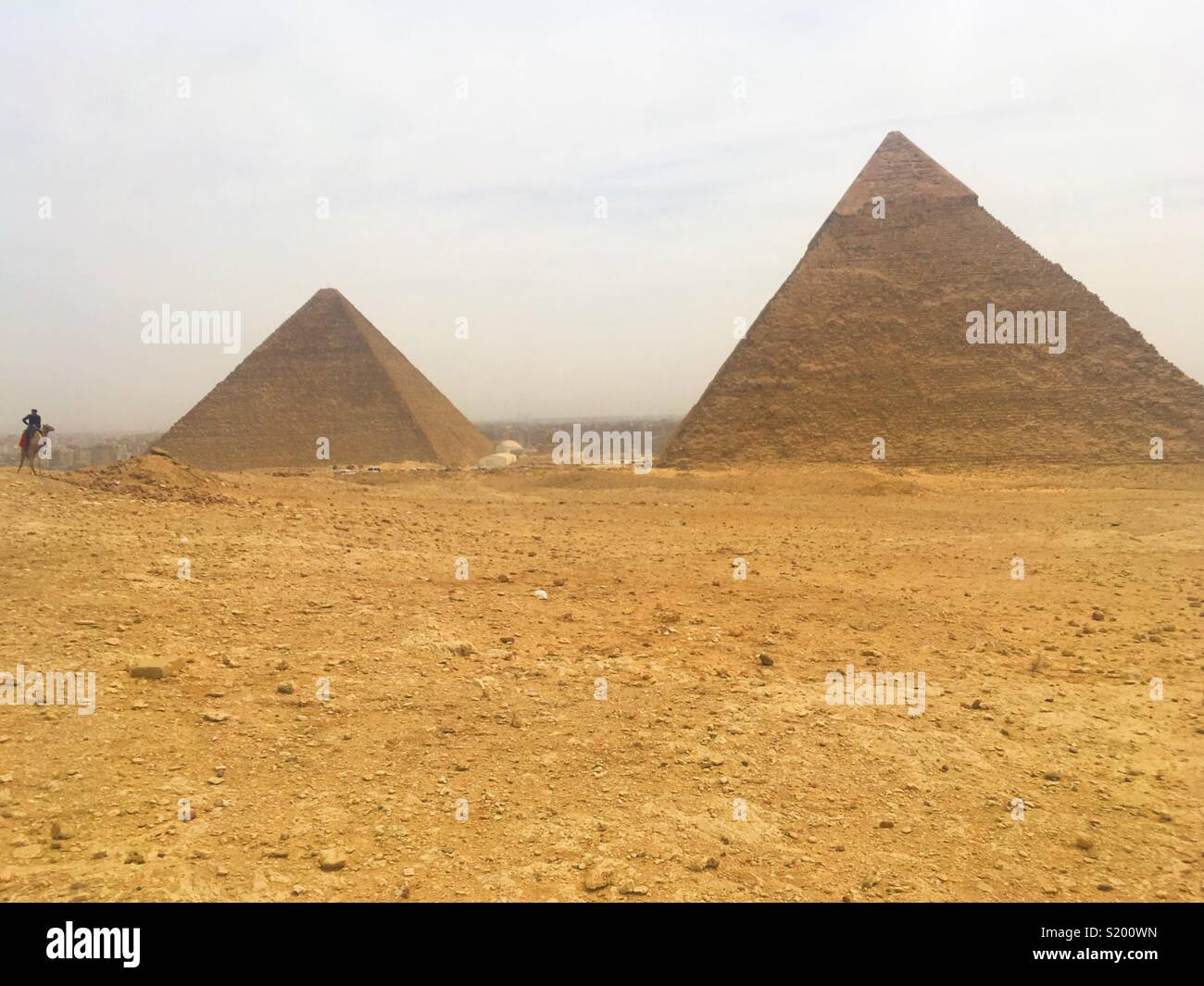 Pyramids of Giza, Egypt - Stock Image