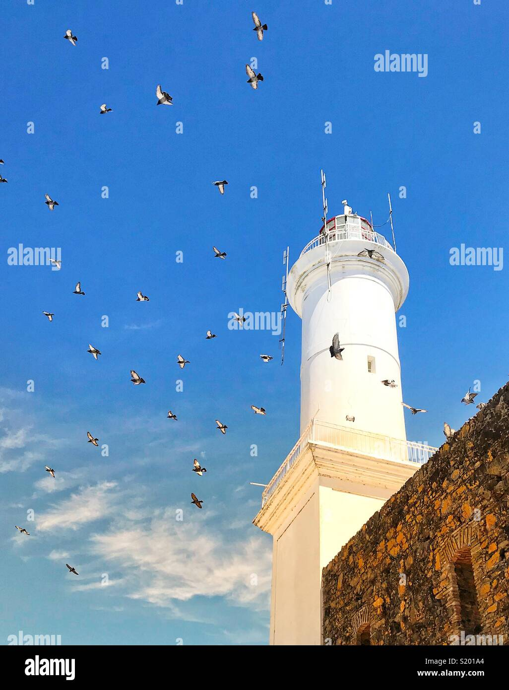 Lighthouse in Colonia, Uruguay - Stock Image