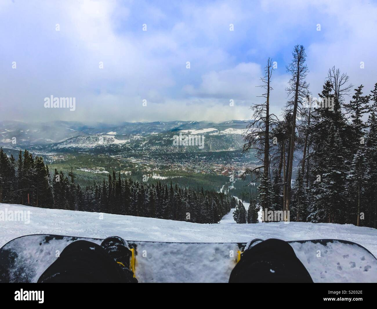 Snowboard View - Stock Image