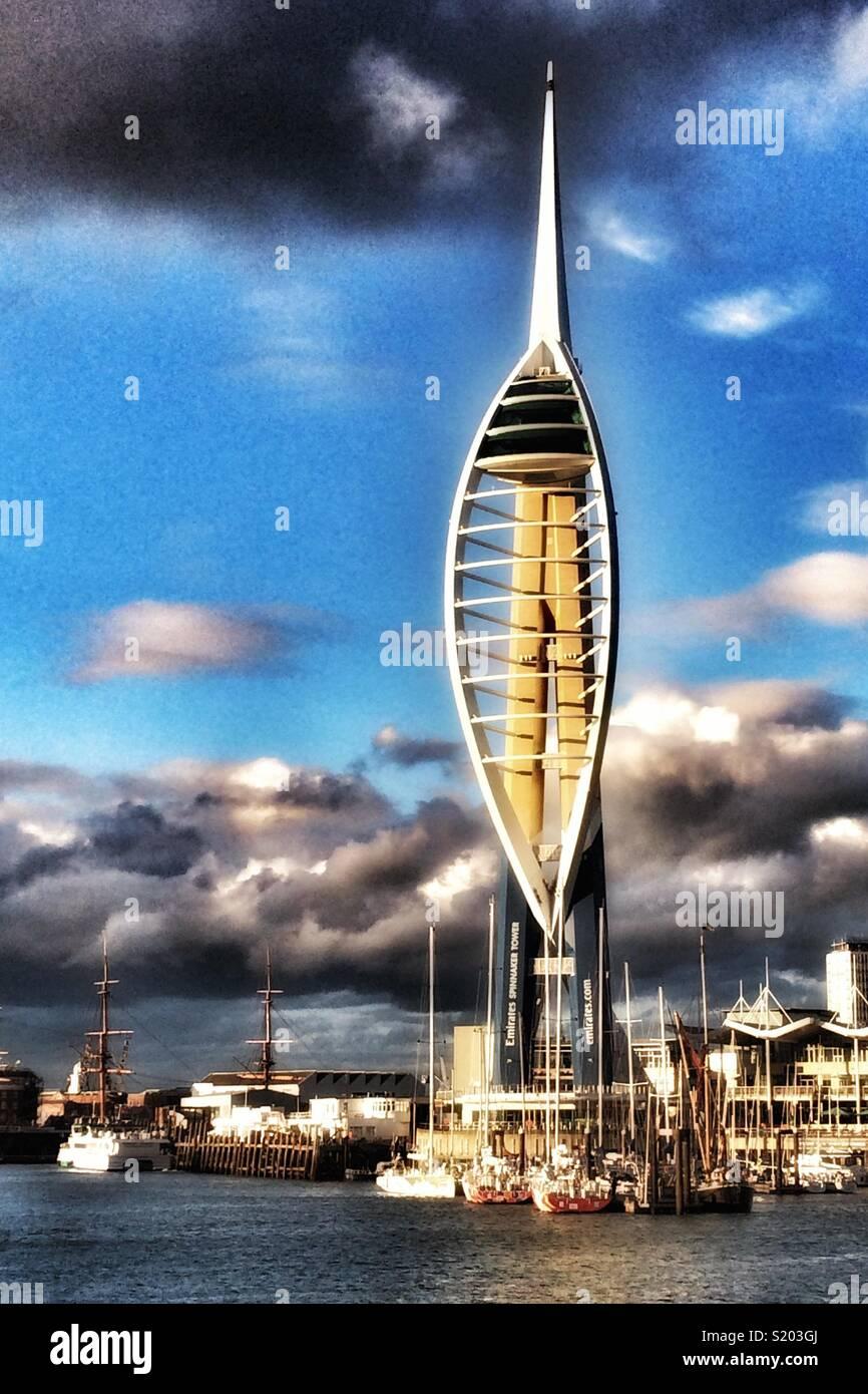 Emirates Spinnaker Tower, Portsmouth, Hampshire, England, UK Stock Photo
