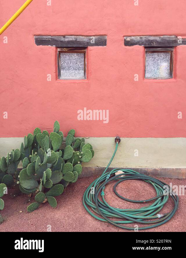 Pink Building - Stock Image