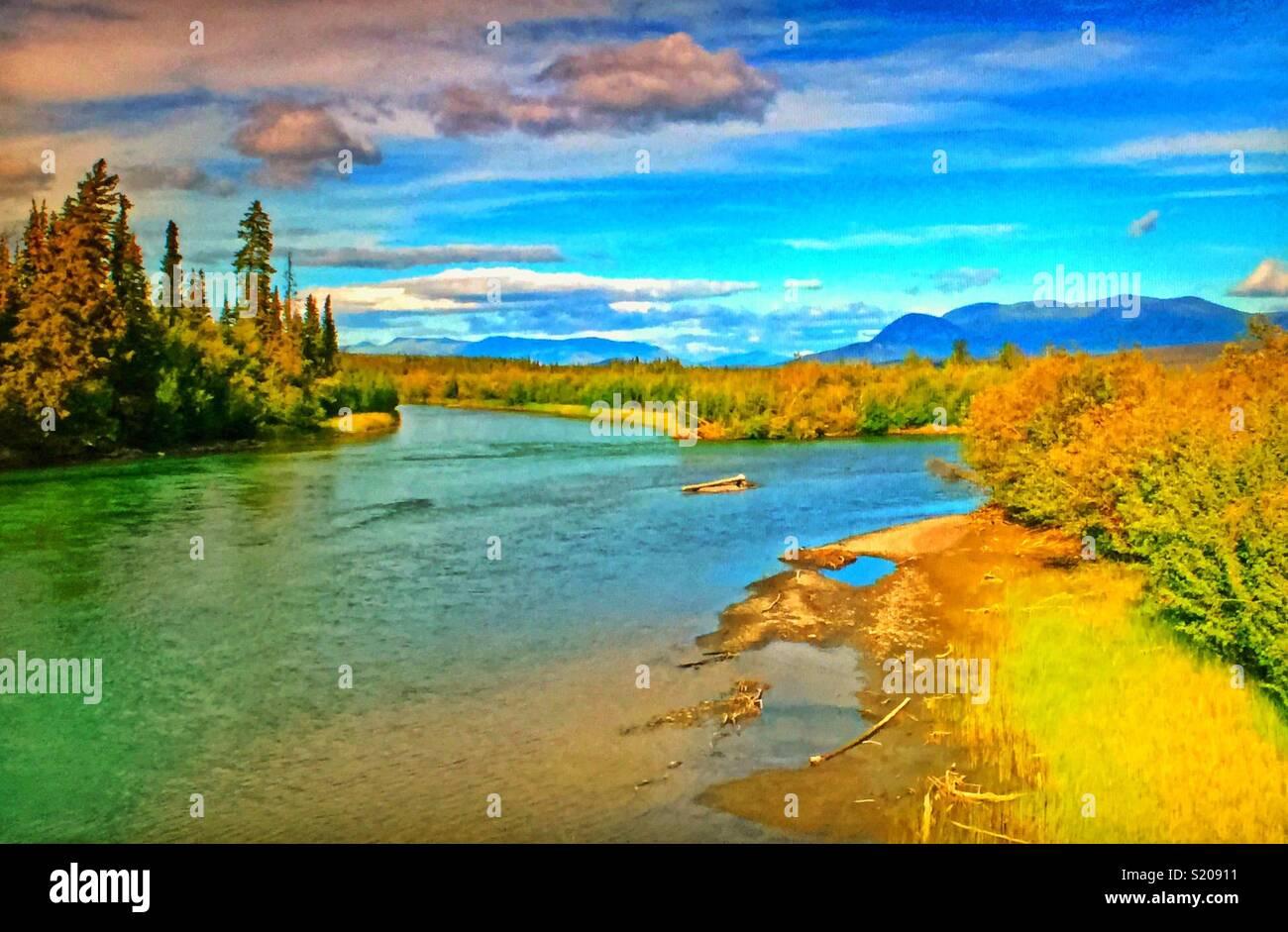 Dezadeash River, Yukon, Canada. - Stock Image