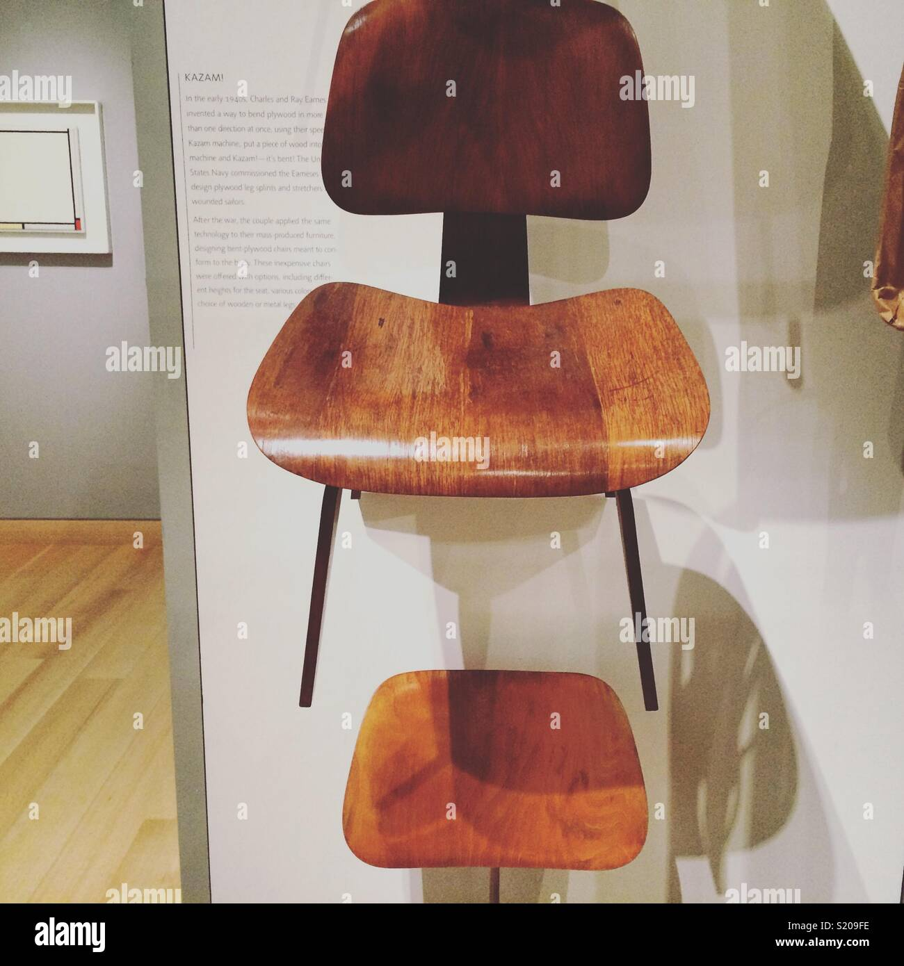 Eames chairs, Museum of Fine Arts, Boston, Massachusetts Stock Photo