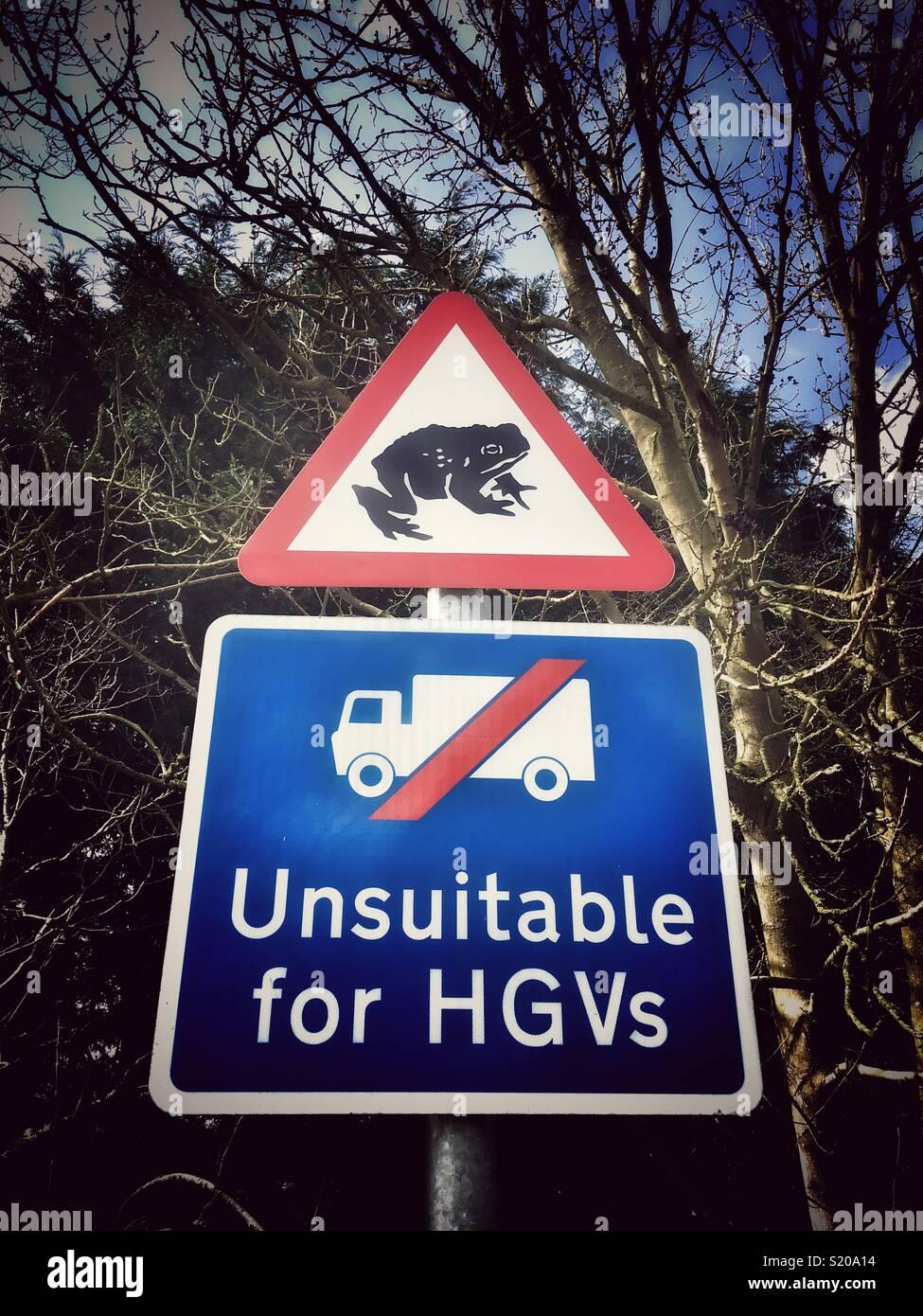 Traffic sign UK - Stock Image
