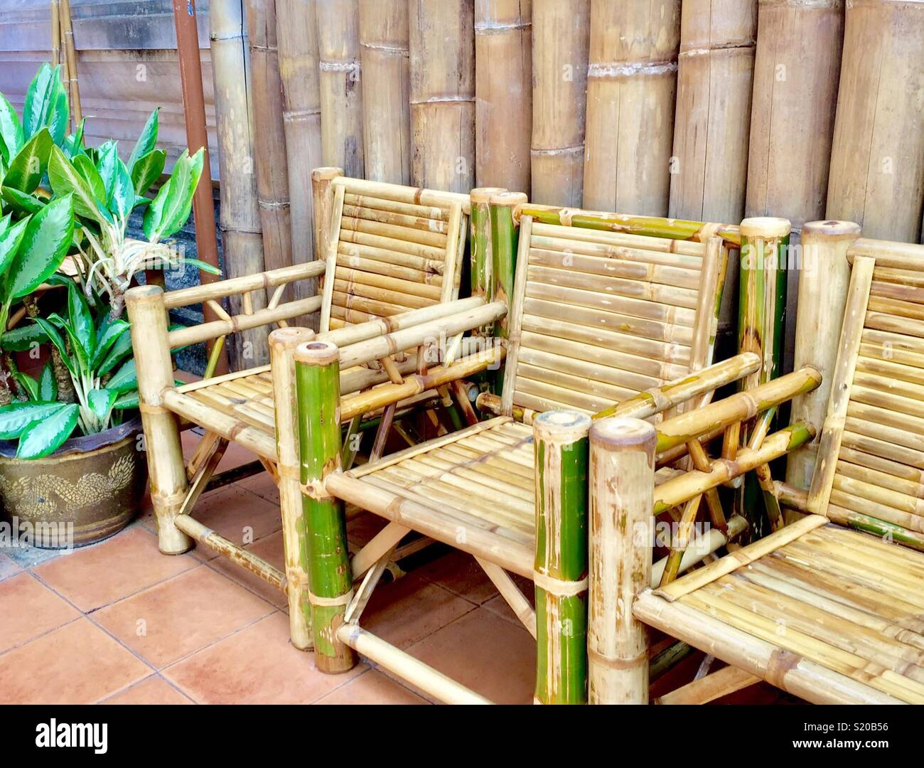 Bamboo Chair Stock Photos Amp Bamboo Chair Stock Images Alamy