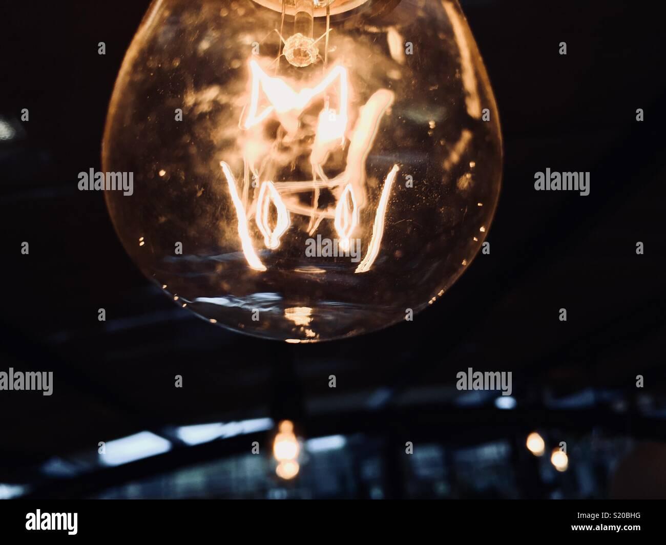 Hanging light closeup - Stock Image