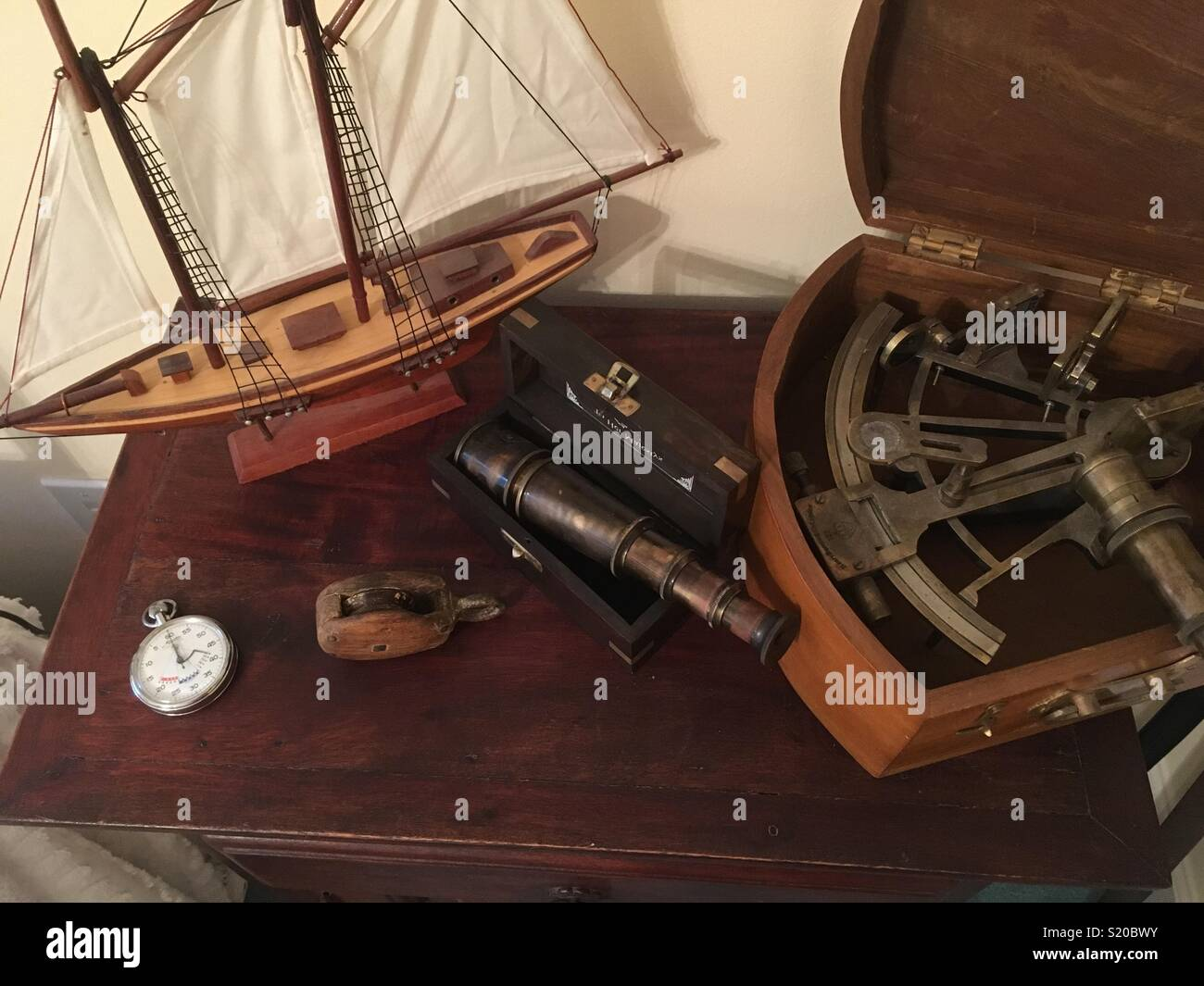 Nautical collectibles - Stock Image