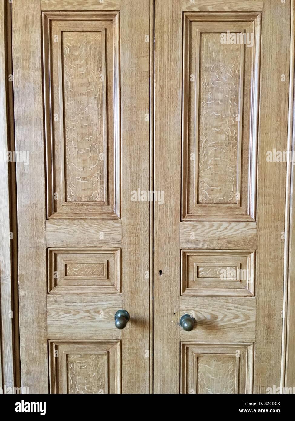 Oak double doors - Stock Image & Grand Doors Stock Photos \u0026 Grand Doors Stock Images - Alamy