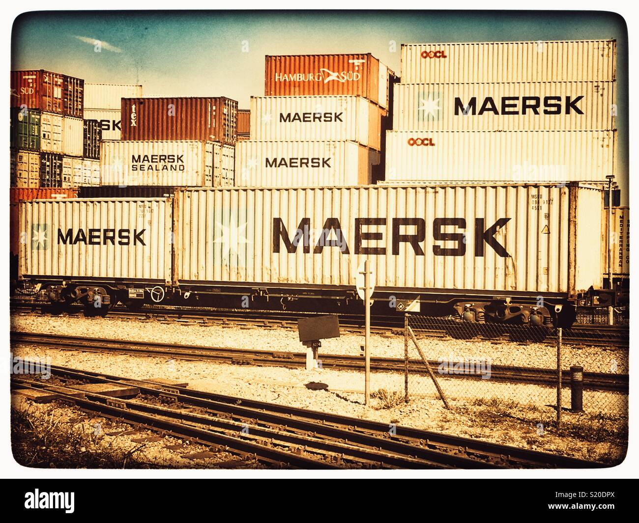 Rail freight - Stock Image