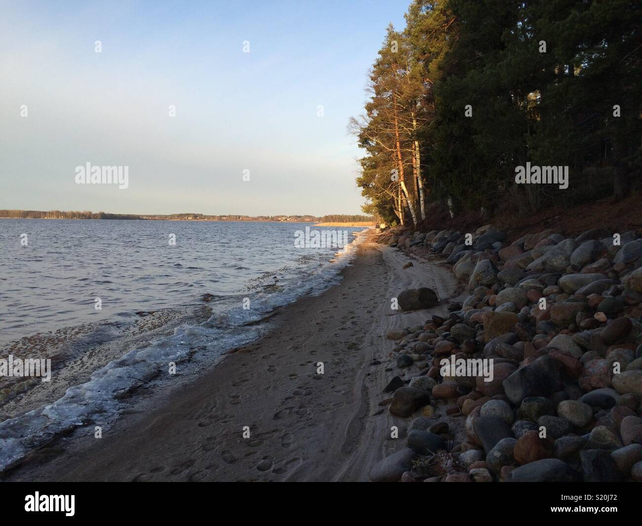 Kuortane Lake at the end of Autumn. Finland. - Stock Image
