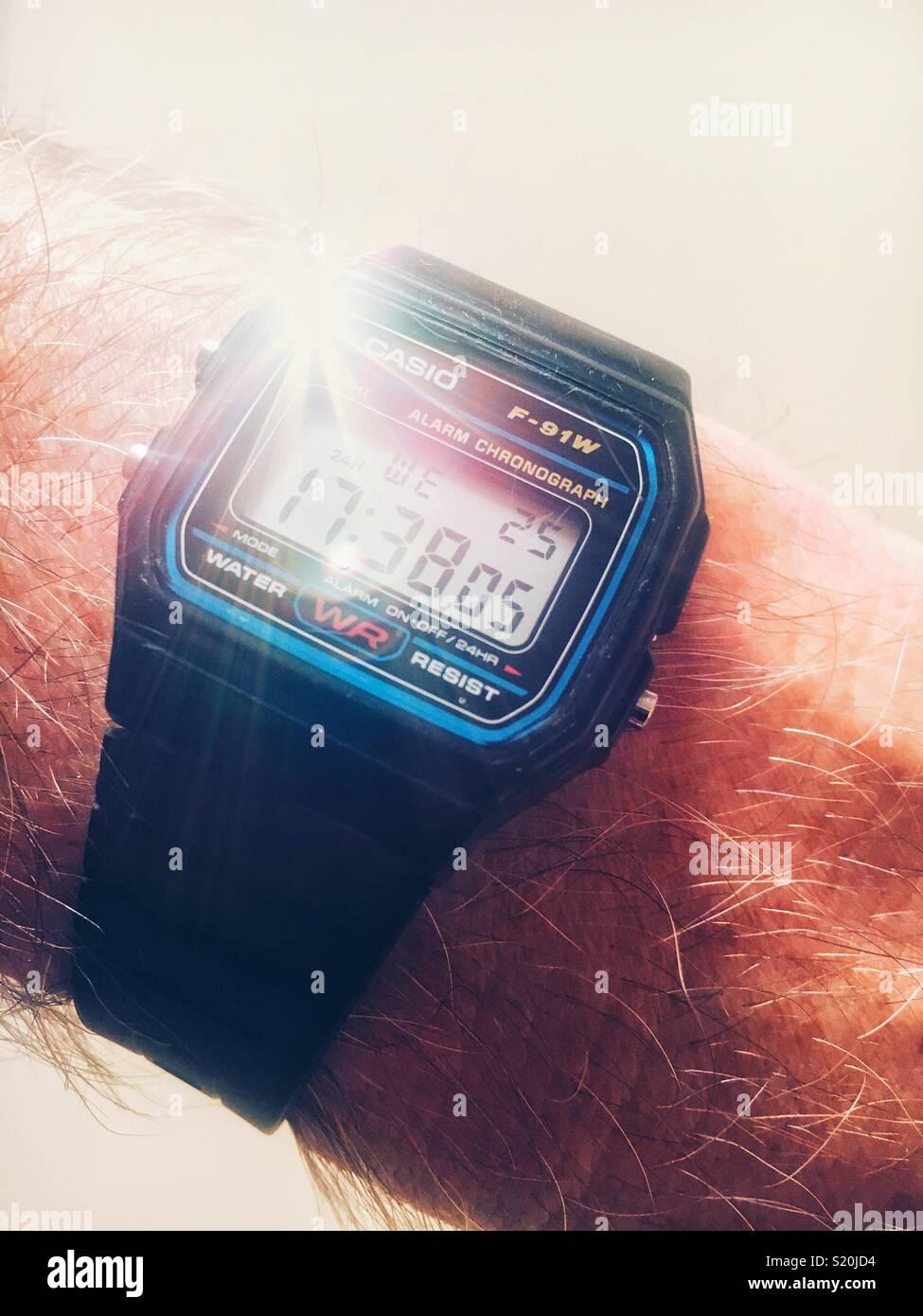 Casio digital watch - Stock Image