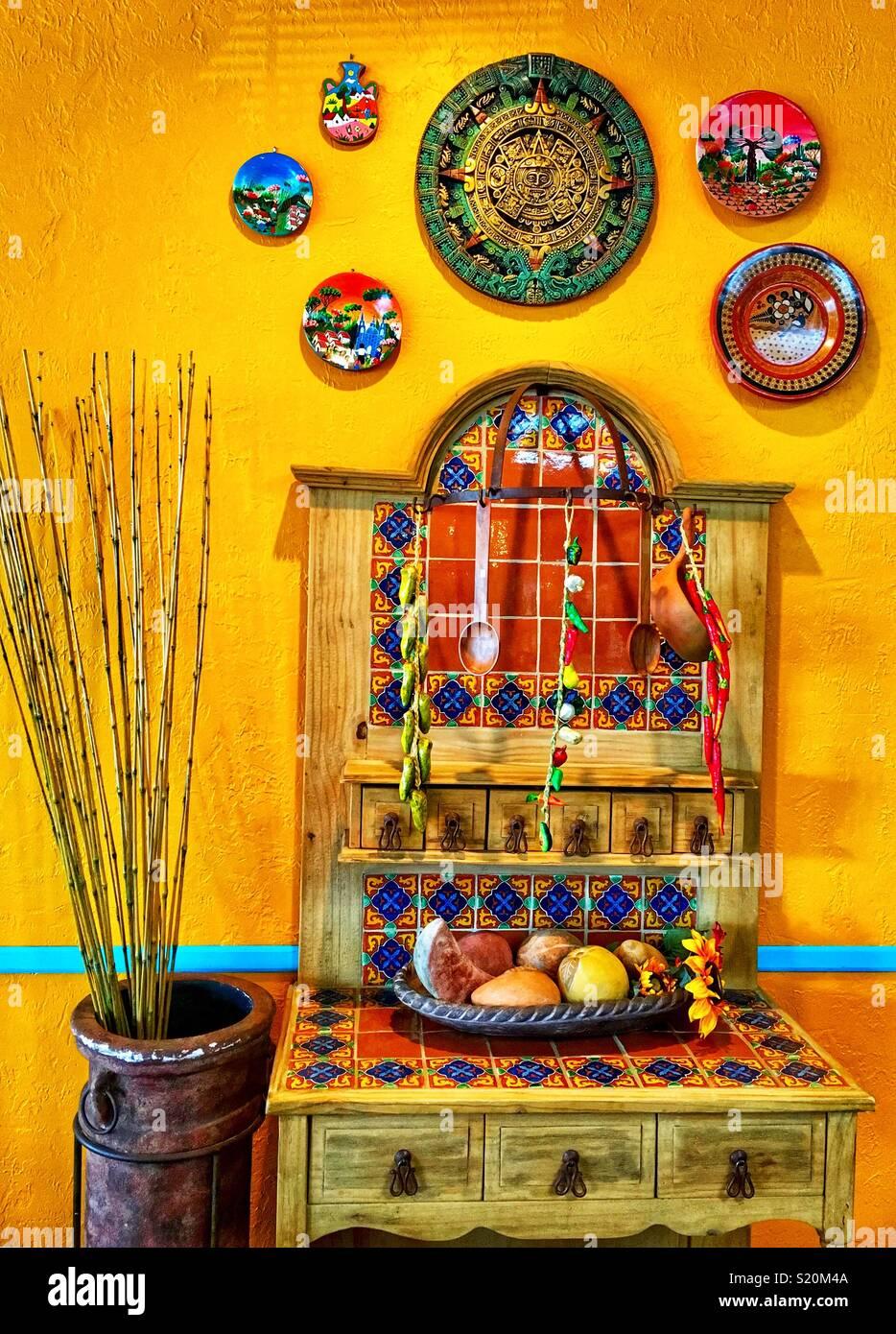 Mexican kitchen decor Stock Photo - Alamy