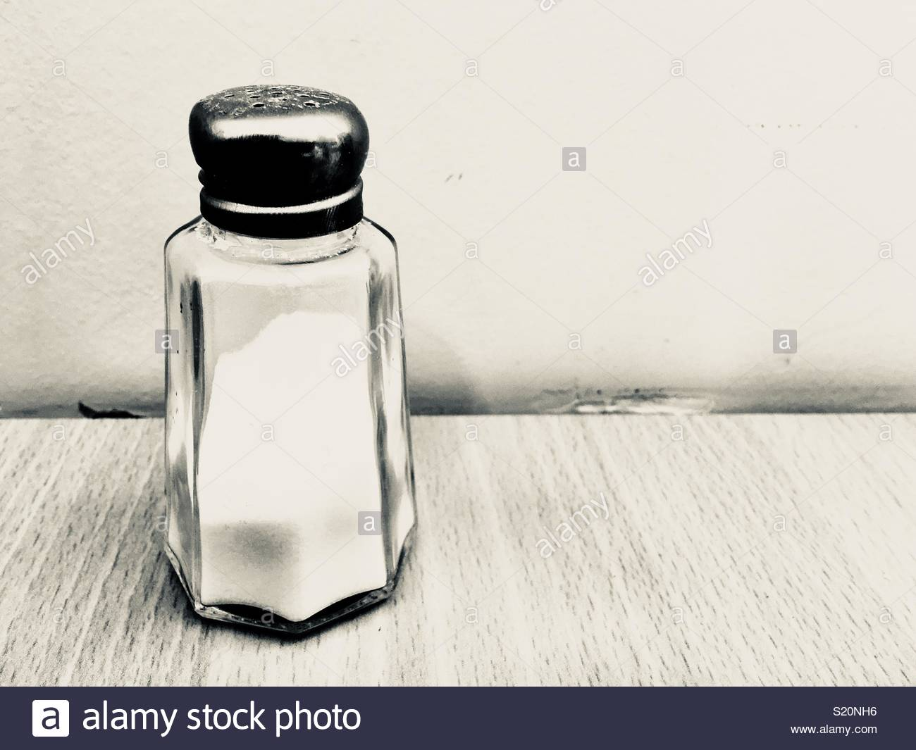 Salt cellar with copy space provided - Stock Image