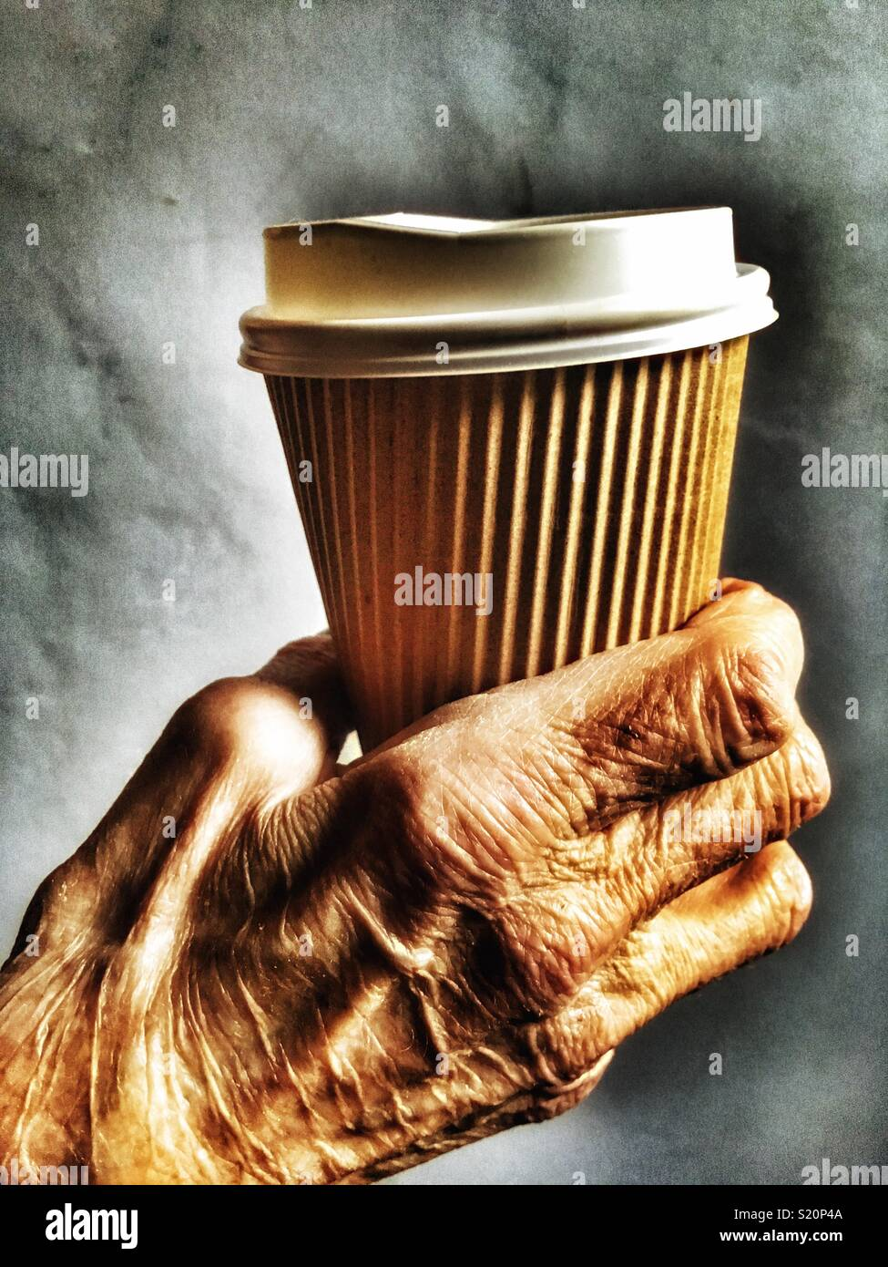 Non-recyclable coffee cup - Stock Image