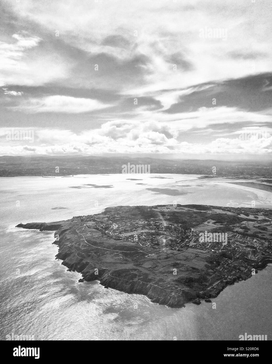 Howth Dublin from above - Stock Image