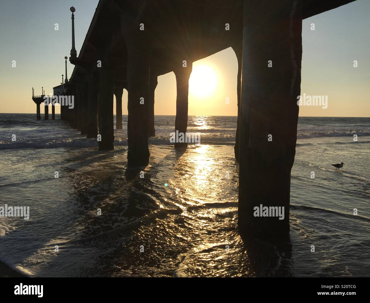 Manhattan Beach Pier California - Stock Image