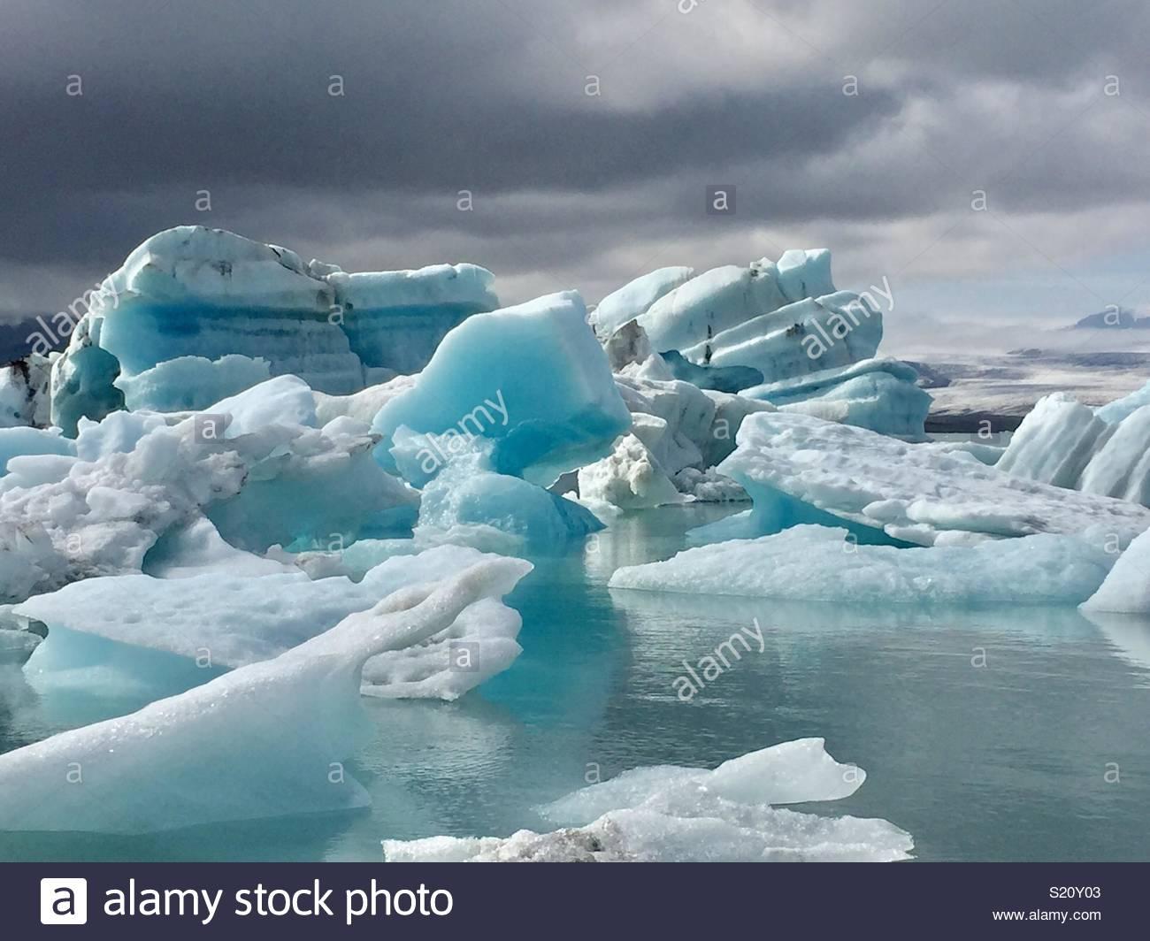 Icebergs - Stock Image