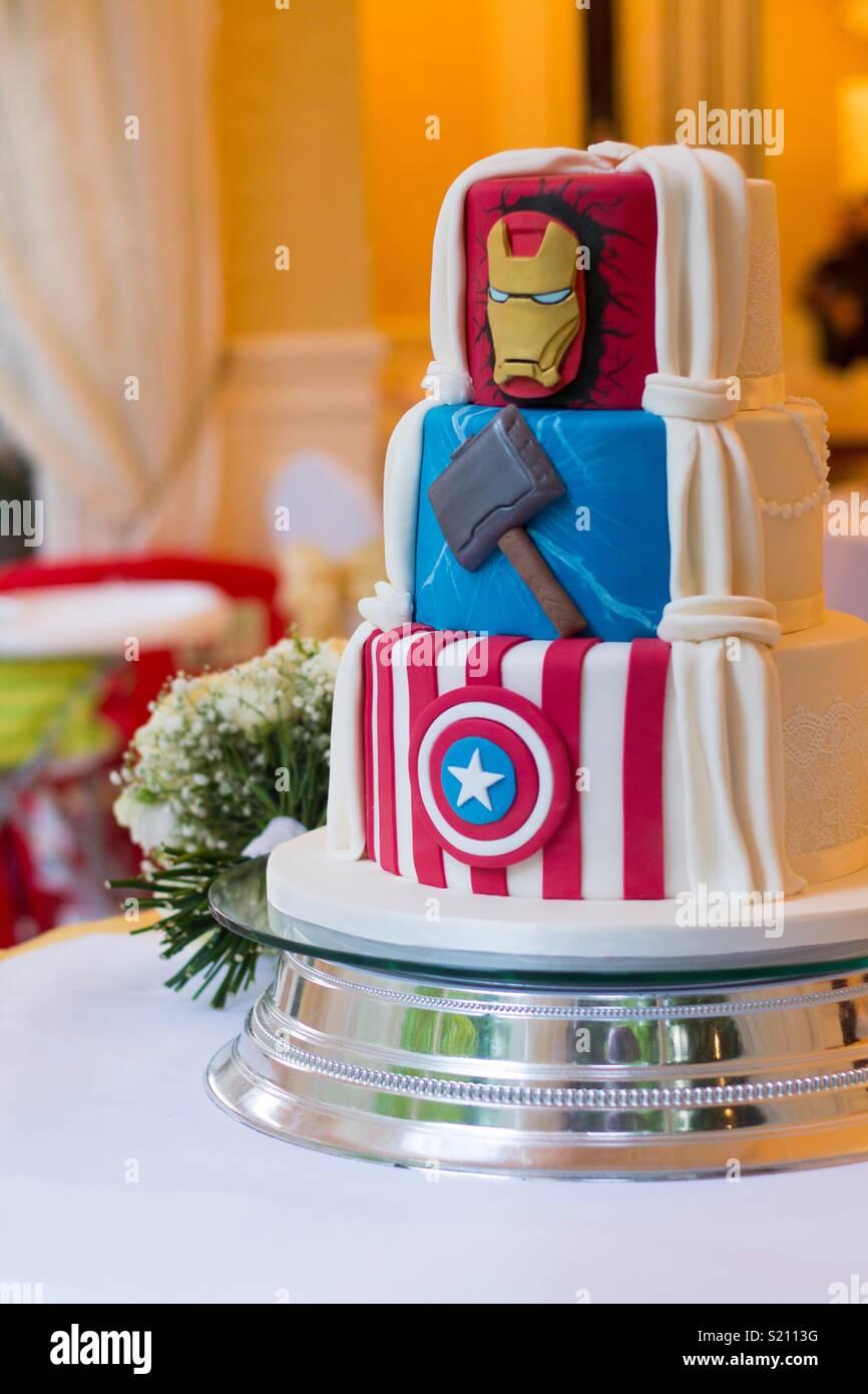 Marvel Wedding Cake Stock Photo 311038772 Alamy