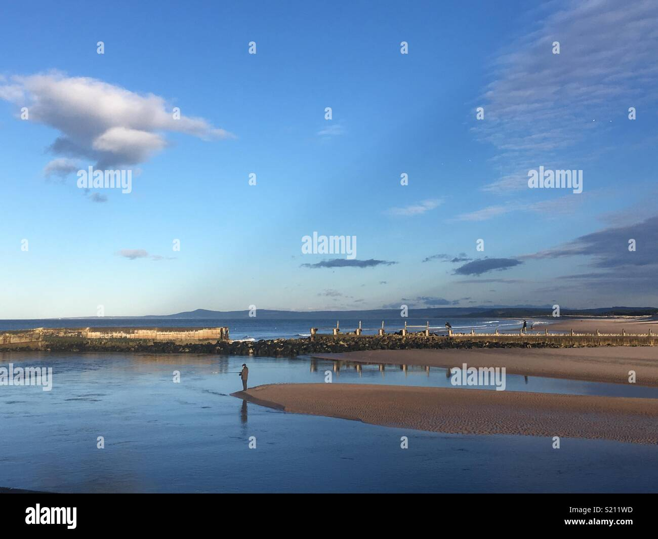 Lossiemouth on a Sunny Day - Stock Image