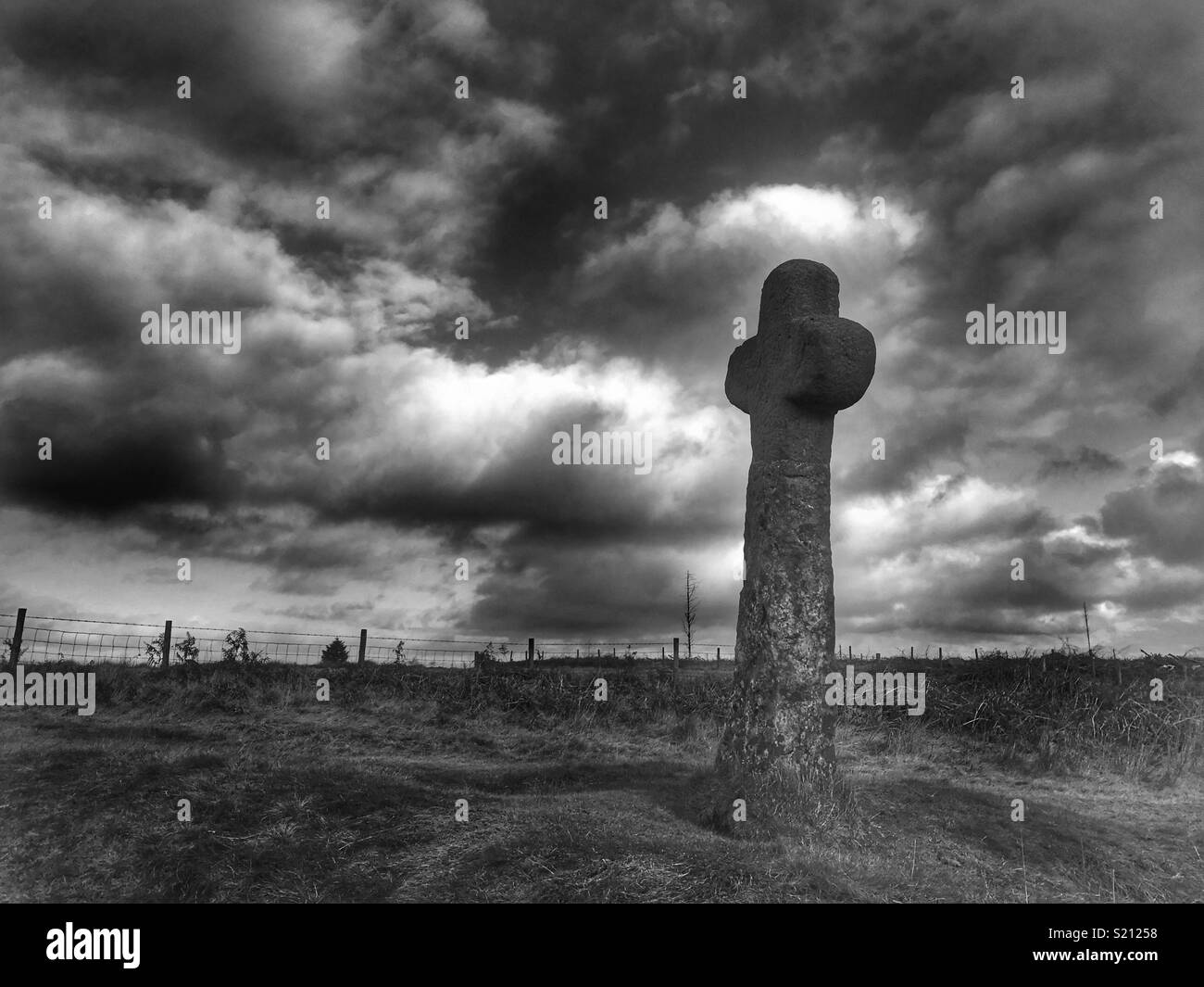 Cross on north yorkshire moors stock image