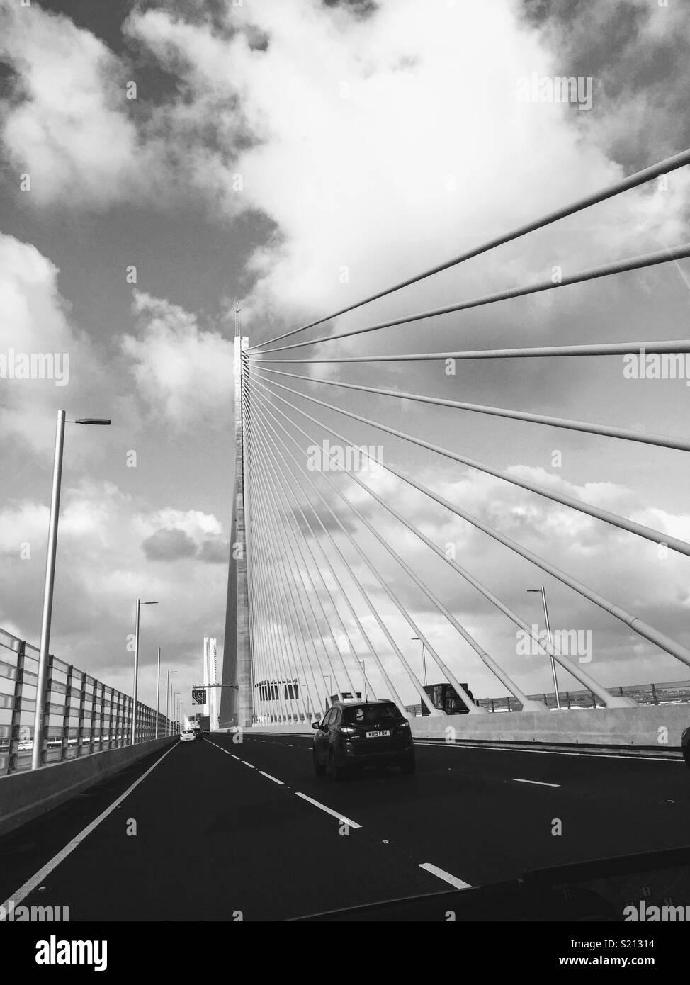 Runcorn Bridge - Stock Image