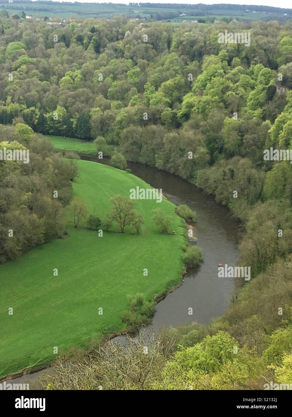 View from Symonds Yat Rock - Stock Image
