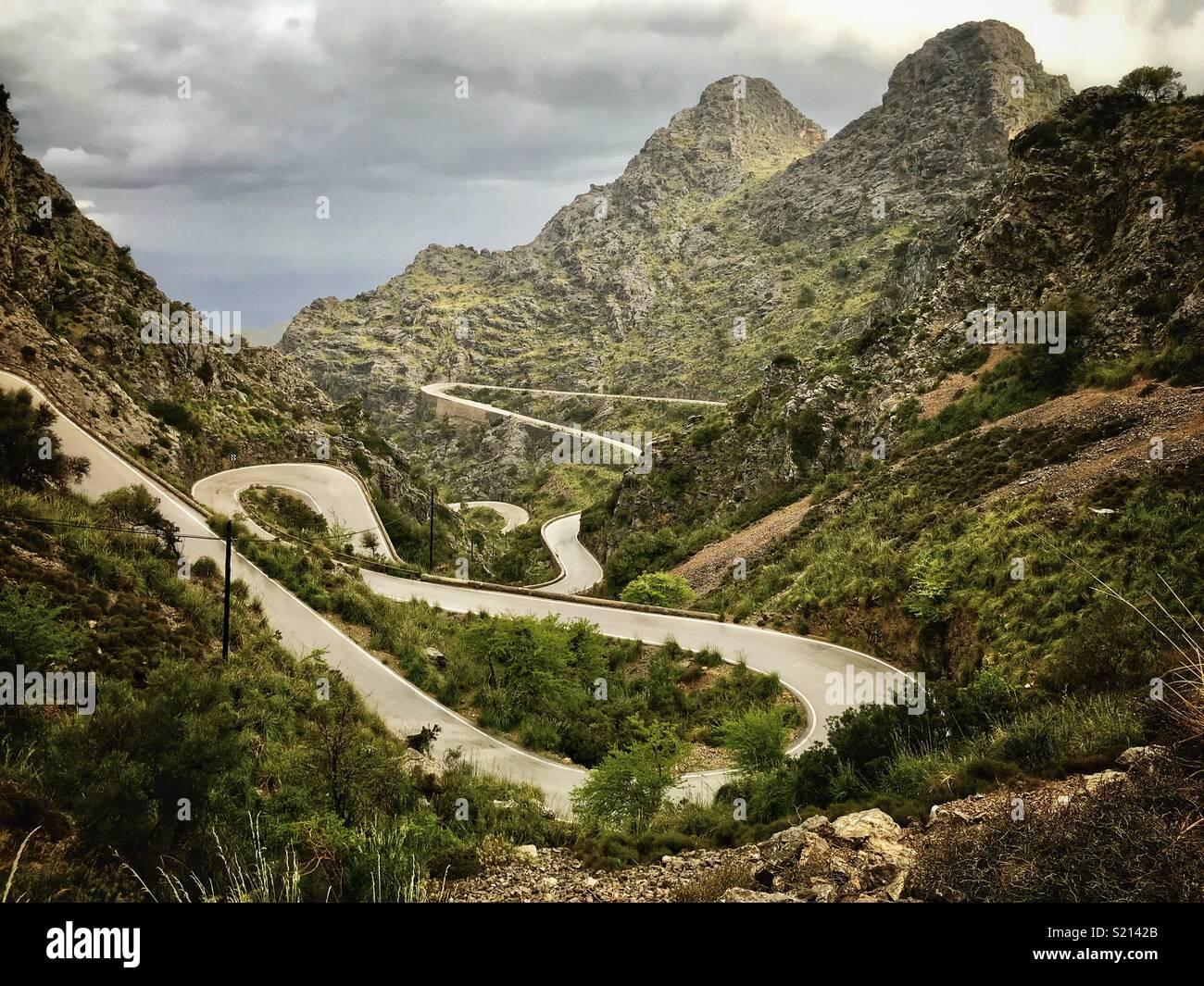Sa Calobra road in Mallorca - Stock Image