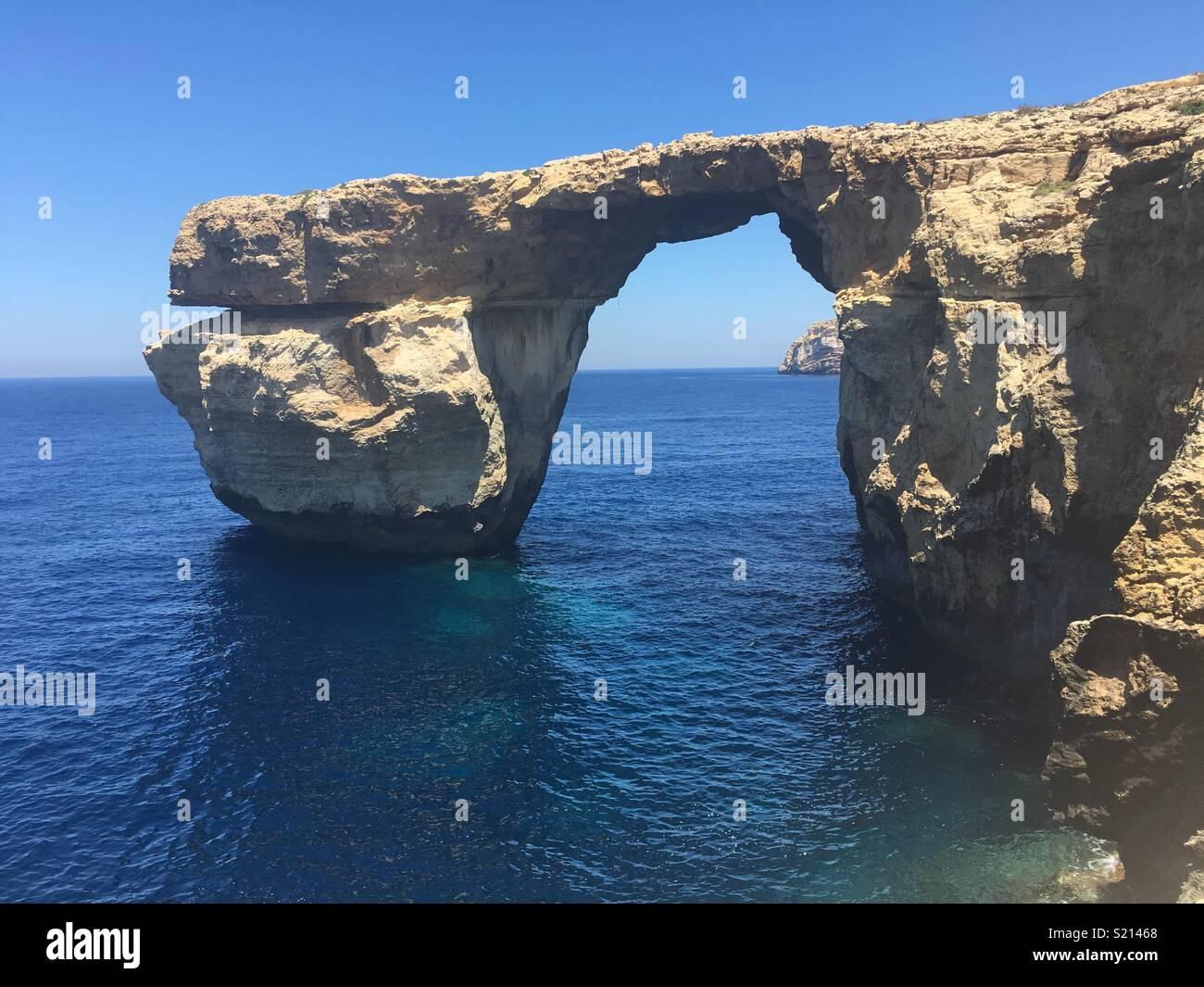 The Azur window, Gozo - Stock Image
