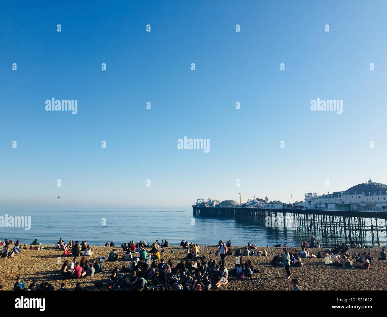 Brighton beach April 2018 - Stock Image