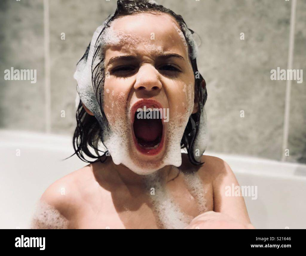 Bath Time Tiger - Stock Image
